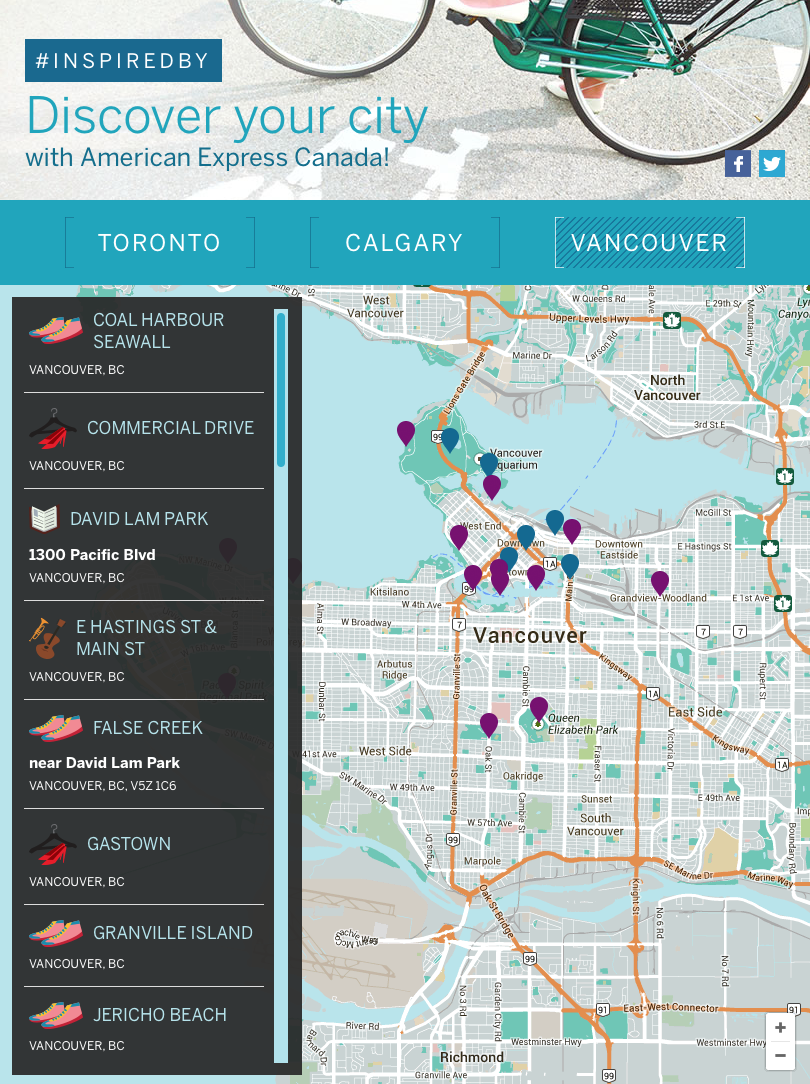 AMEX Map vancouver