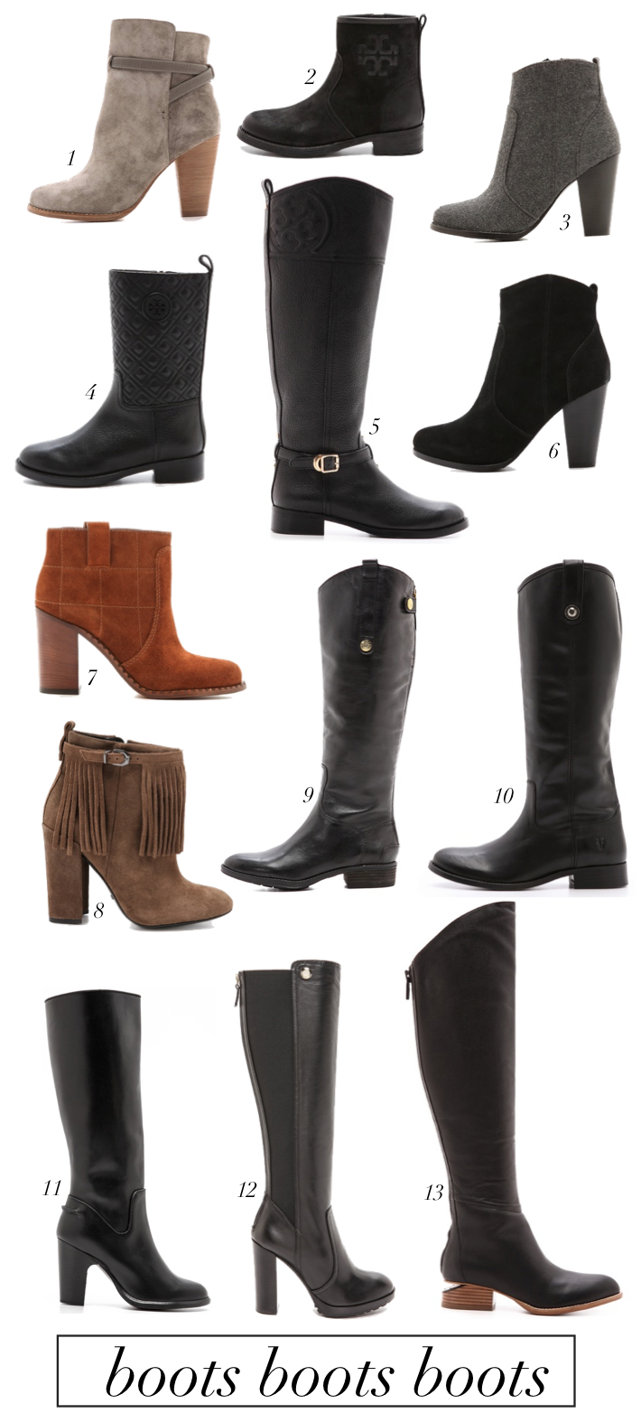 Boots for fall and winter