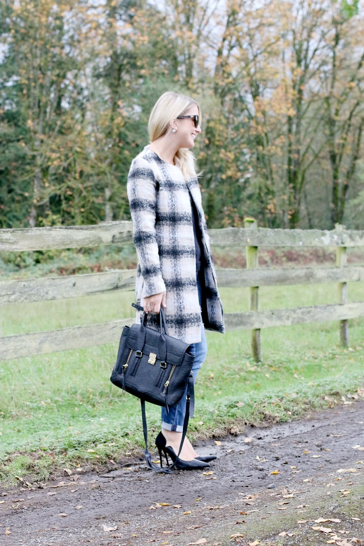 Holiday Style Plaid Coat