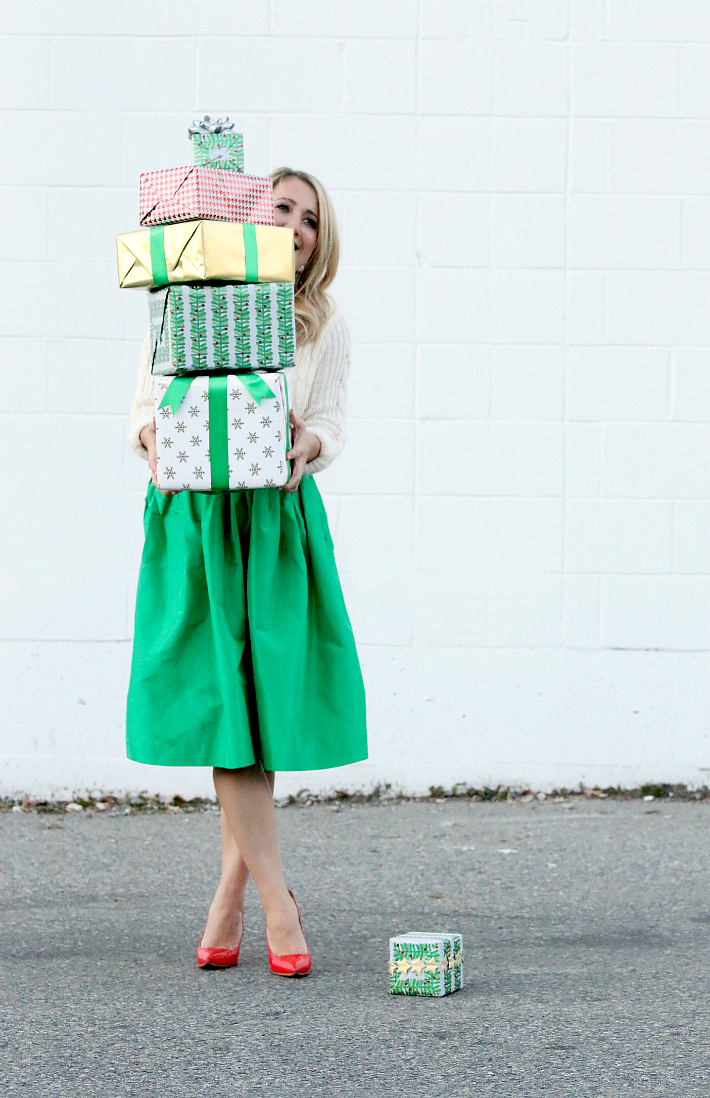 Monika Hibbs Kelly Green party skirt Holiday style