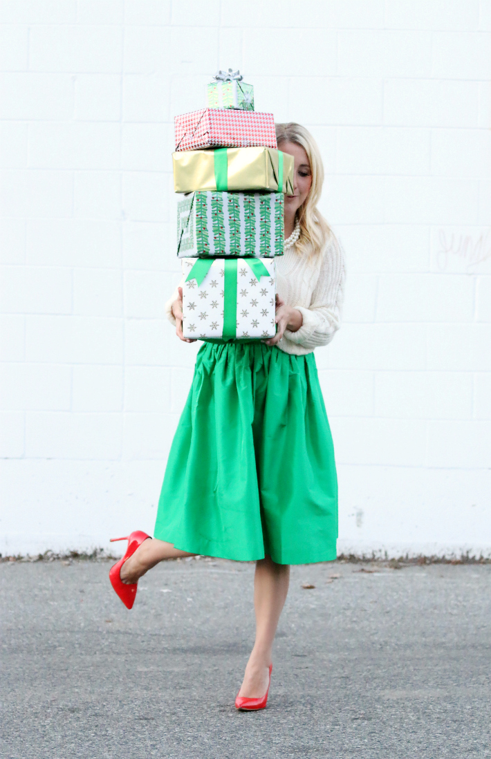 Monika Hibbs Kelly Green Partyskirt Holiday Style