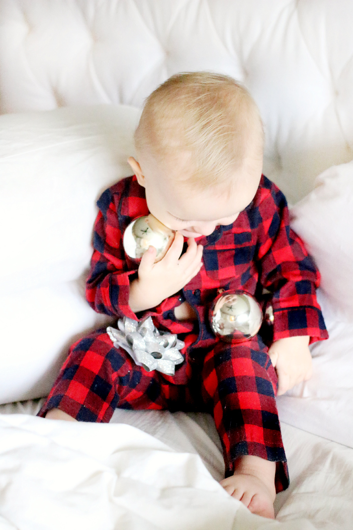 boy Christmas PJ's Canon Baby Momments