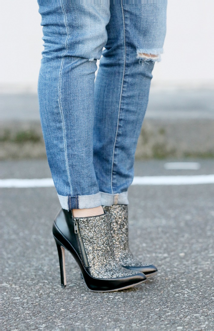 Holiday Style sparkle booties
