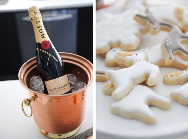 Christmas decor Champagne cookies