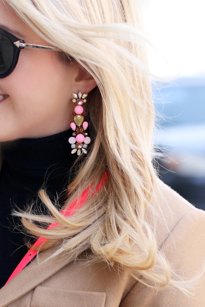 J. Crew Neon Pink Earrings