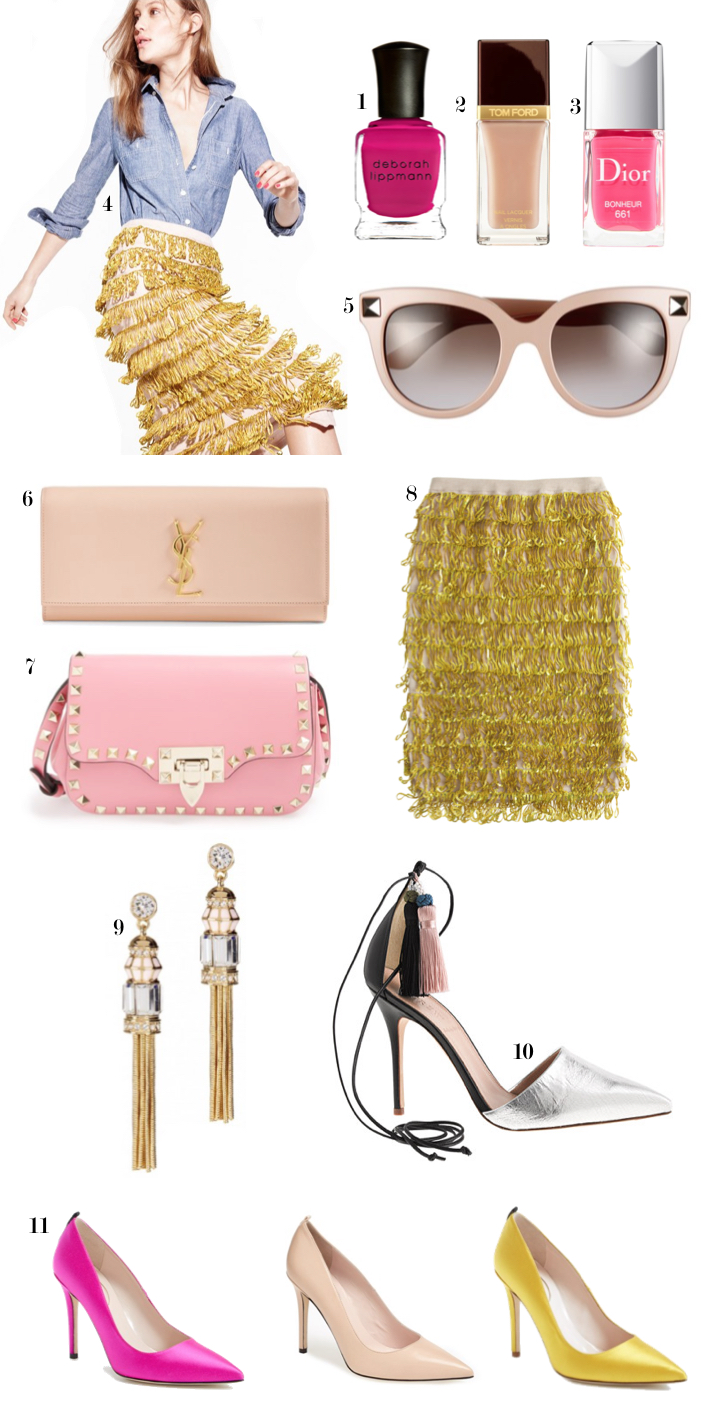 Pink Yellow Spring Fashion