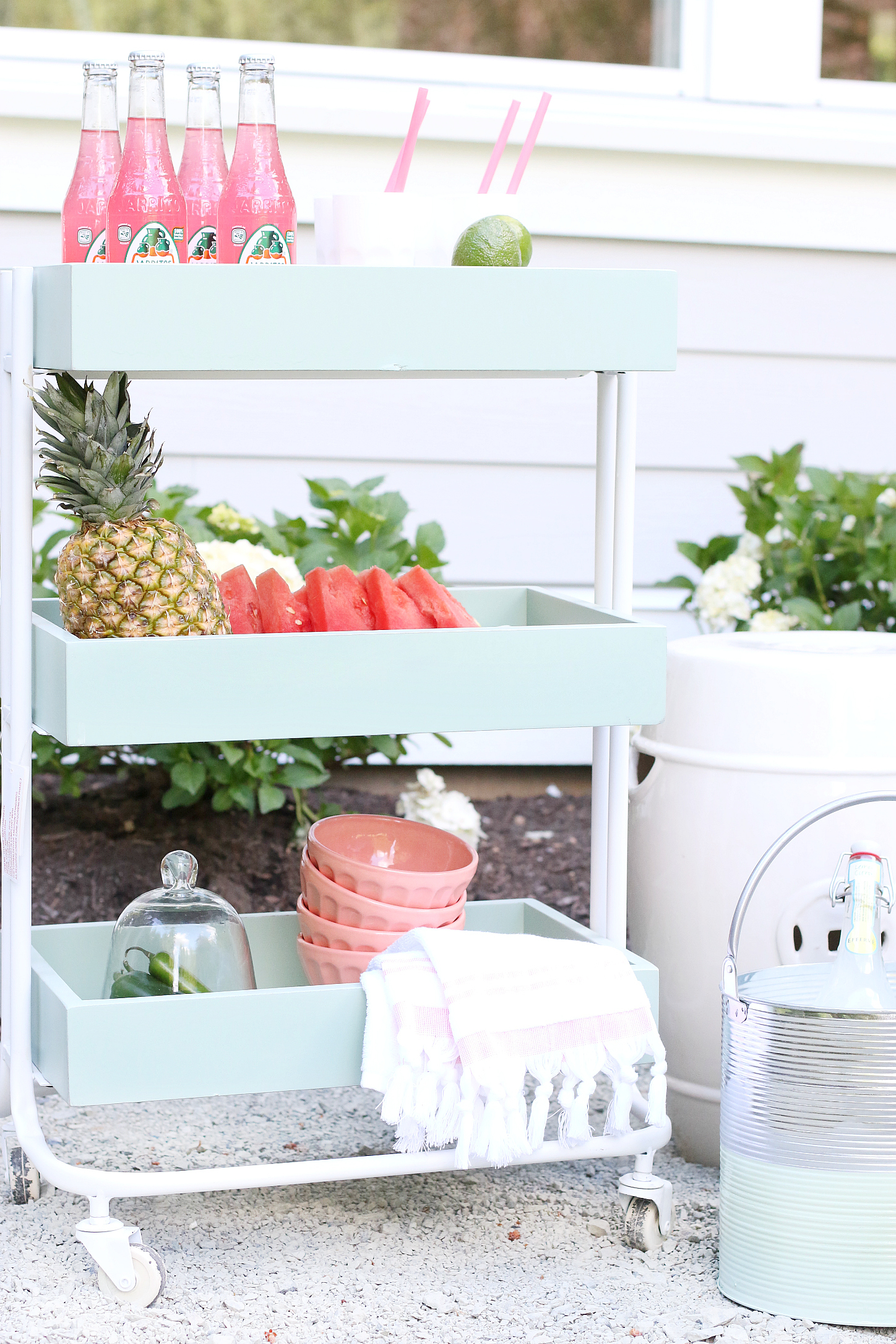 Outdoor Dinner Party Bar Cart