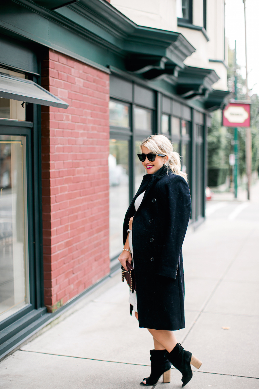 Fall Fashion Black Trench