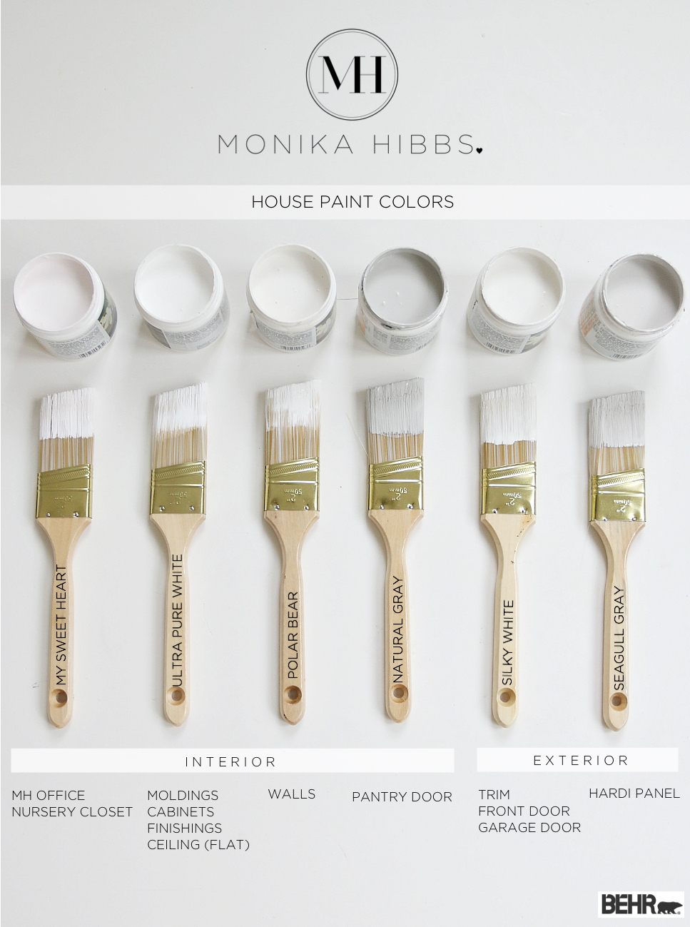 Monika Hibbs House Paint Colors