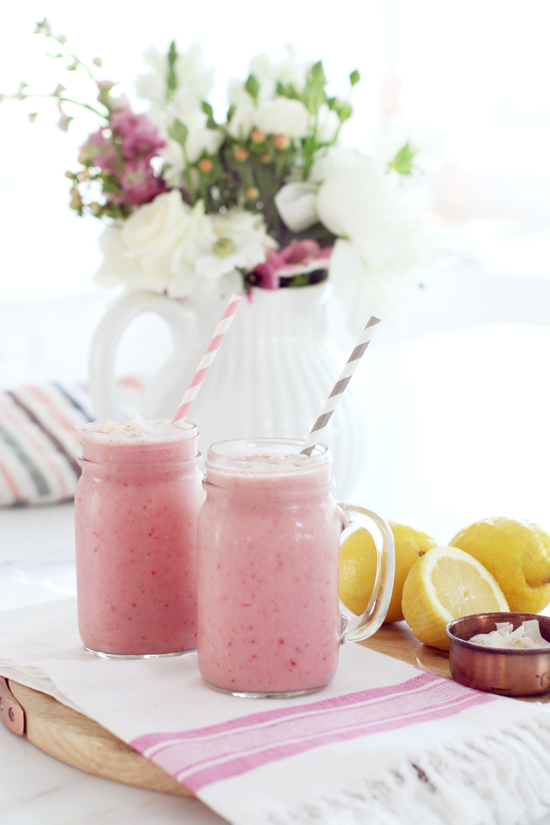 Strawberry Coconut Smoothy 10