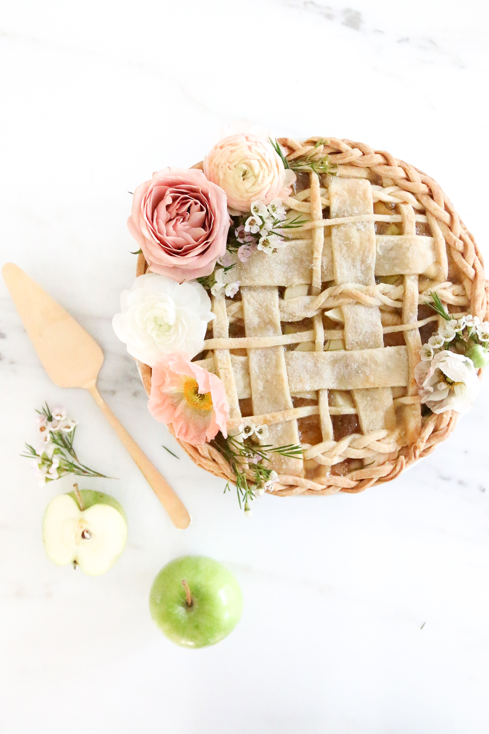 Floral Braided Apple Pie