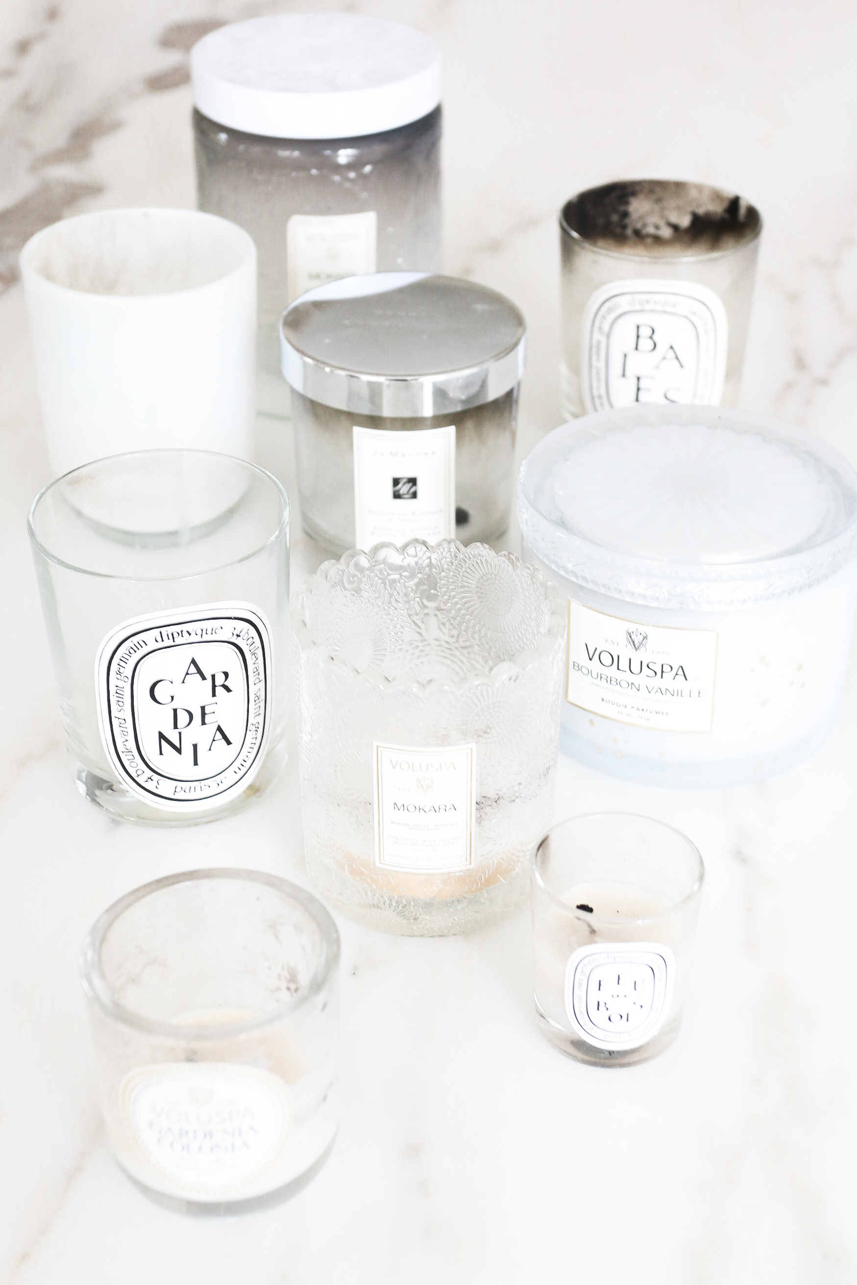 DIY Candle refill how to get wax out of candle containers