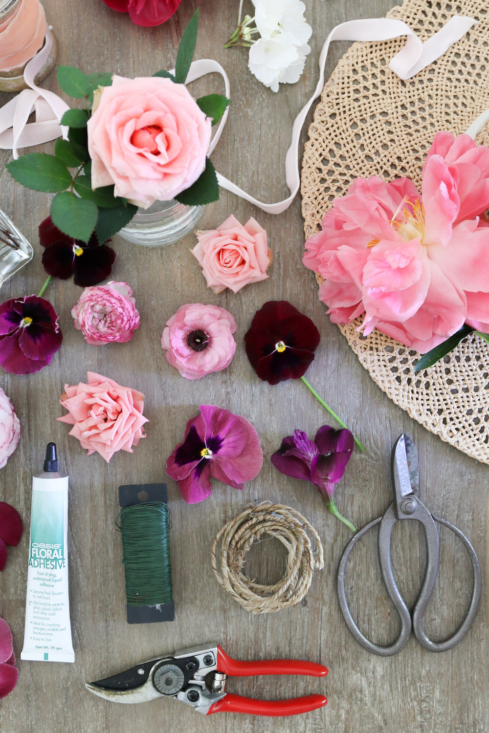 DIY Floral Hat tools Monika Hibbs