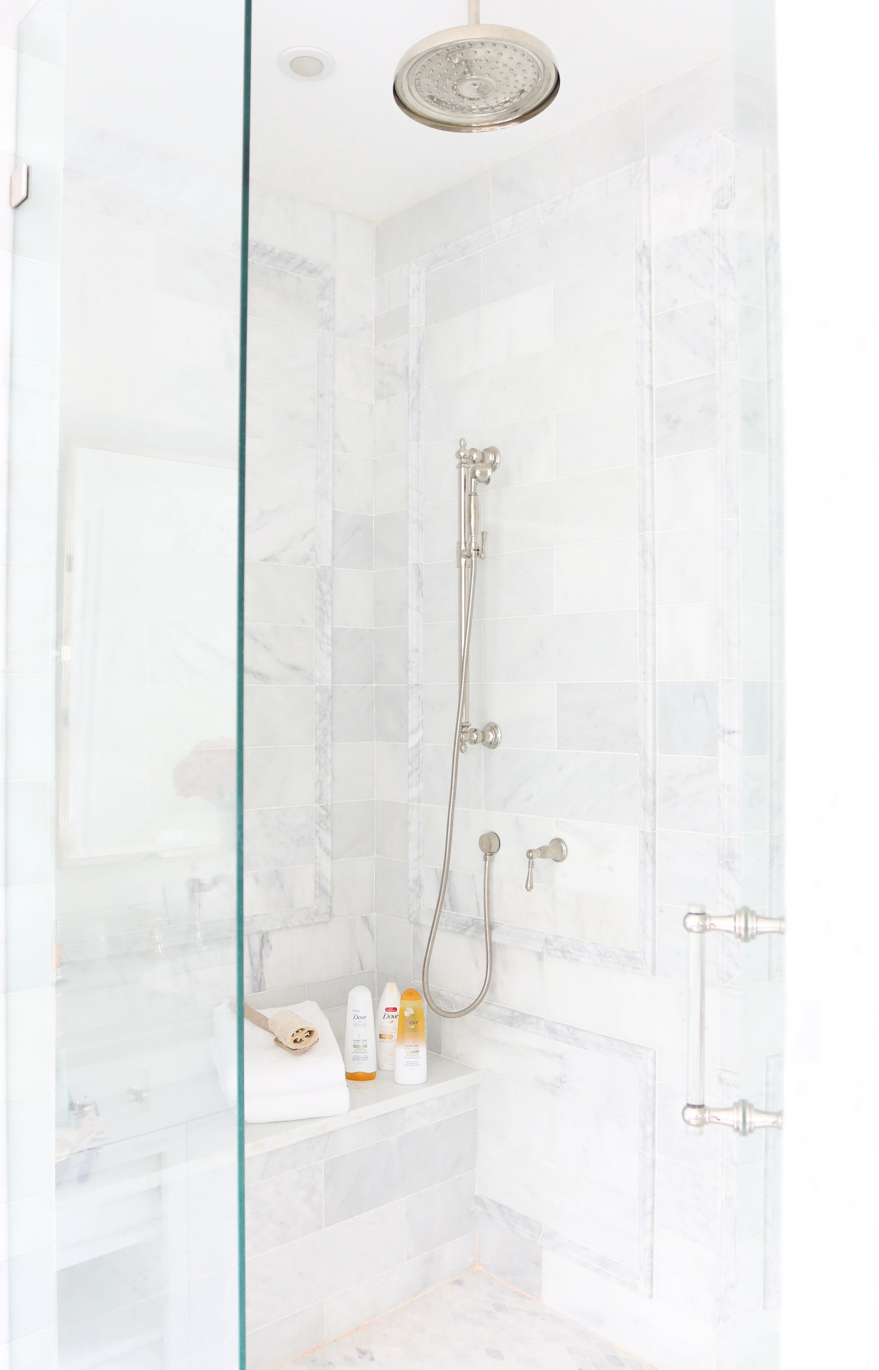Marble Bathroom Shower Dove