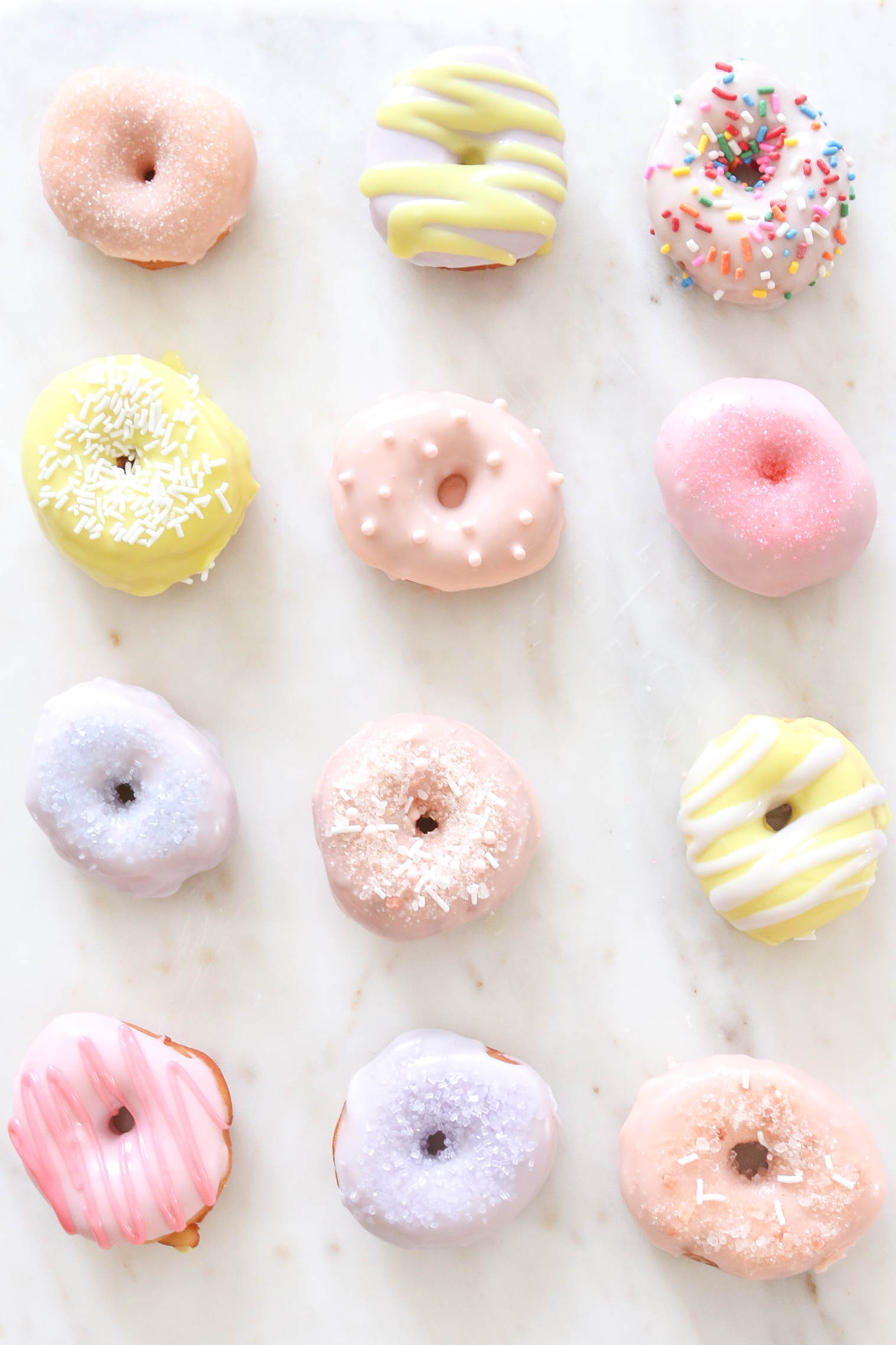Mini Donut Recipe Icing Sprinkles DIY Monika Hibbs