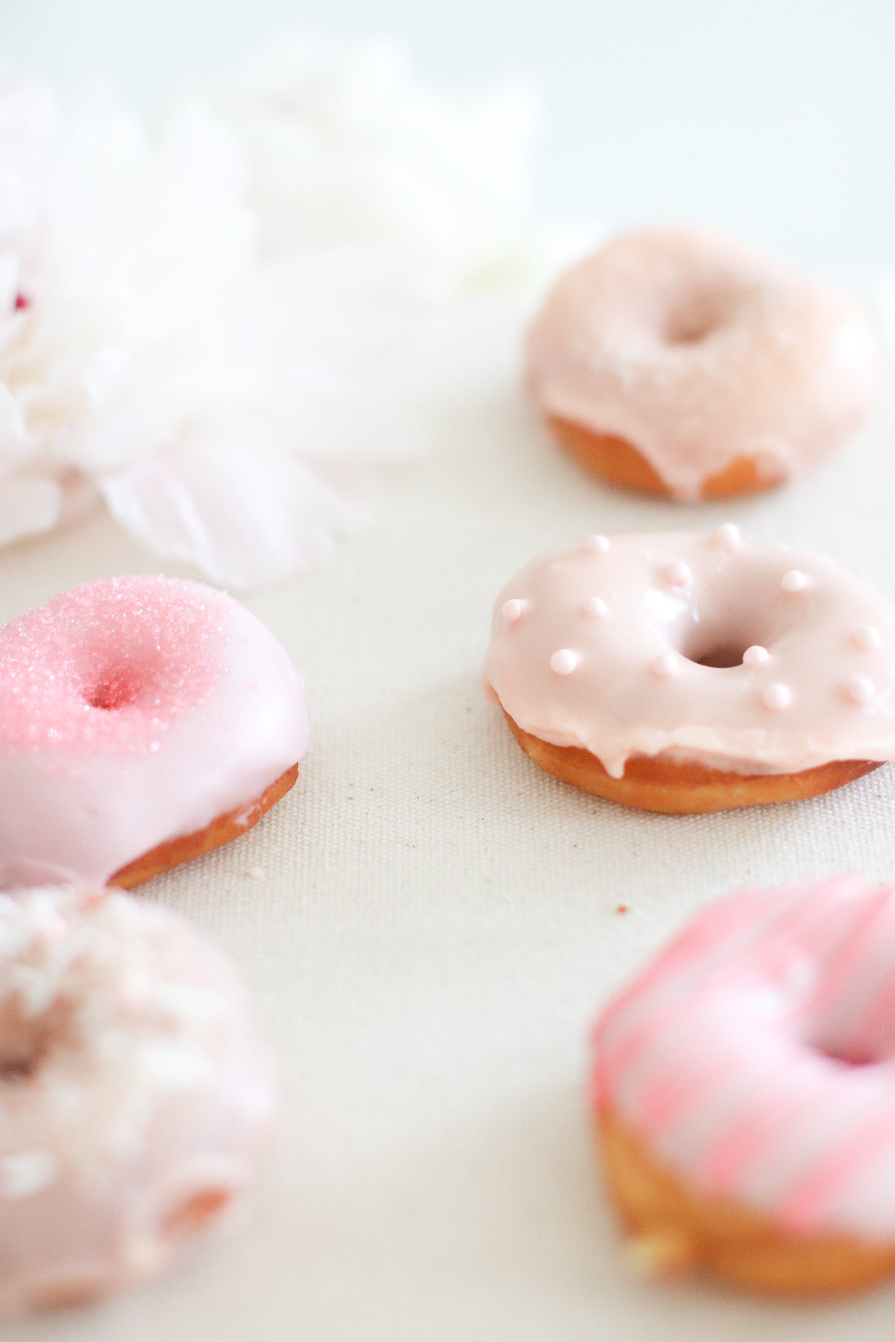 Mini Donut Sprinkles Icing DIY How to Make Donuts Donut Recipe Pink Monika Hibbs