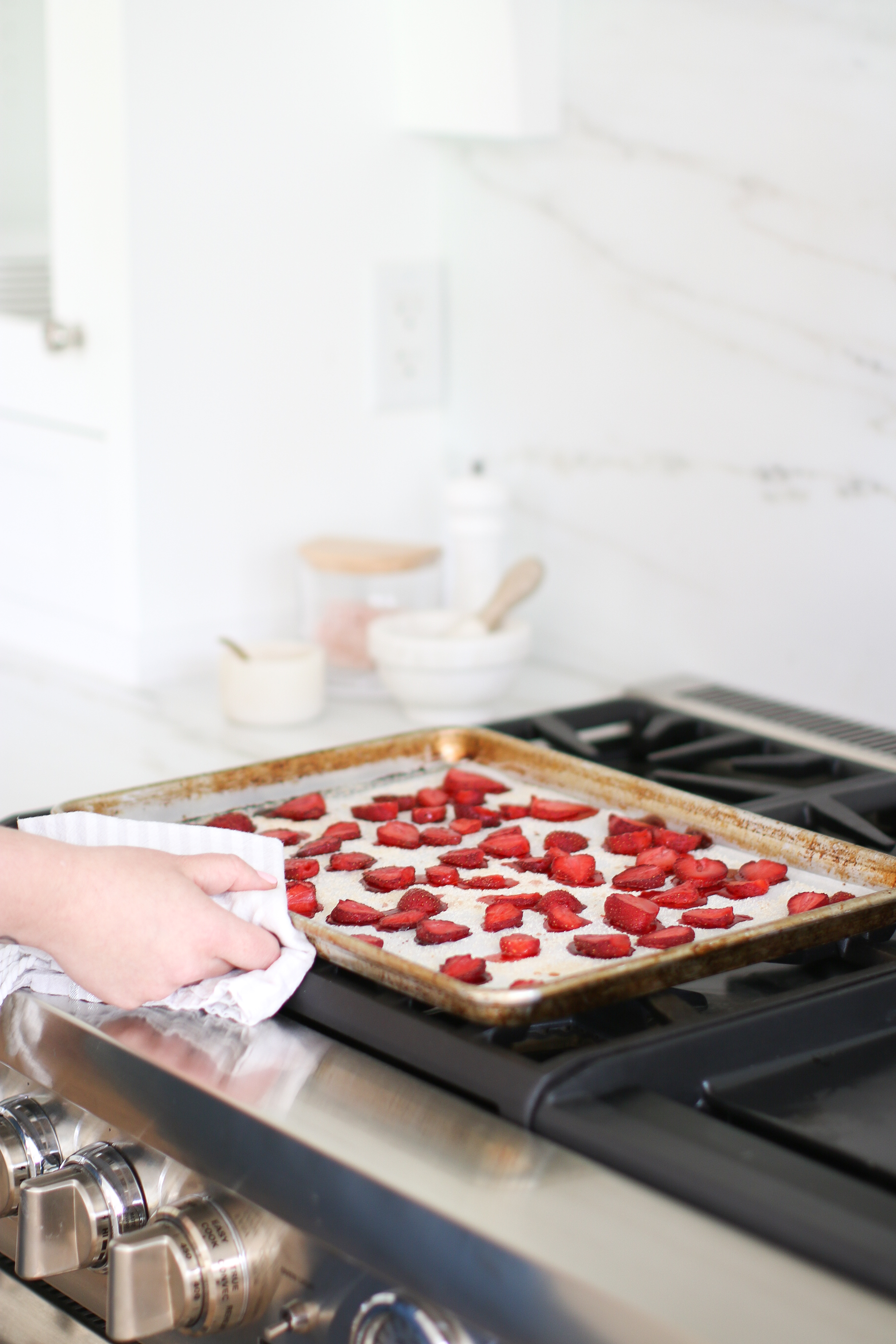 Roasted Strawberries Almond Milk DIY Recipe Monika Hibbs
