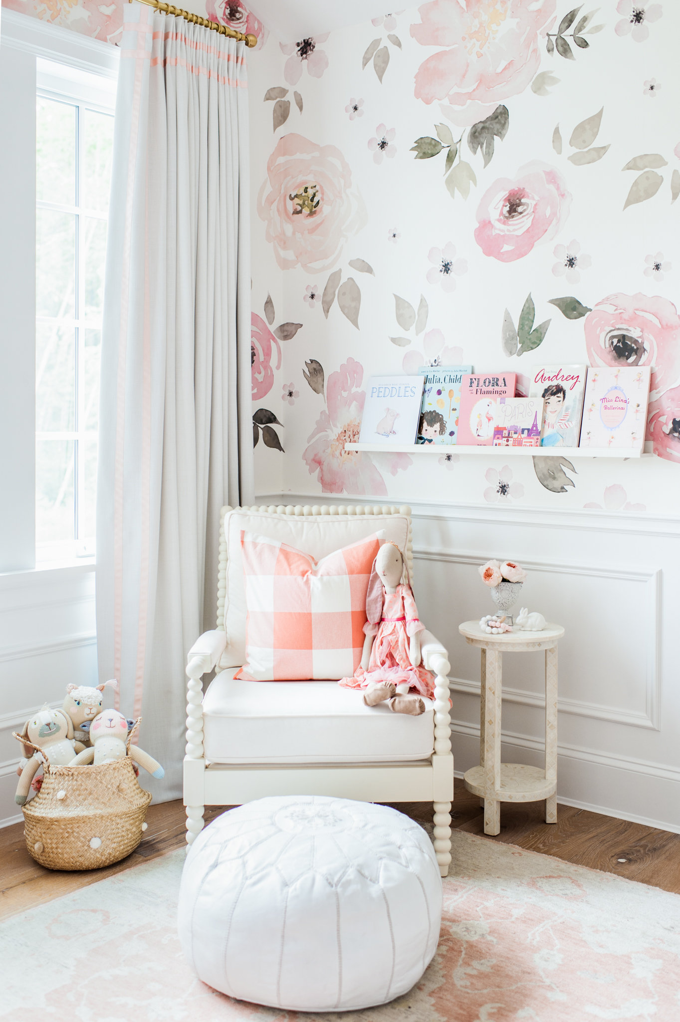 Lillya s nursery giveaway monika hibbs for Floral bedroom decor