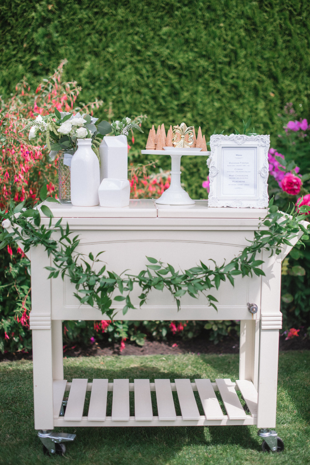 Jillian Harris Baby Shower Monika Hibbs Bar Cart