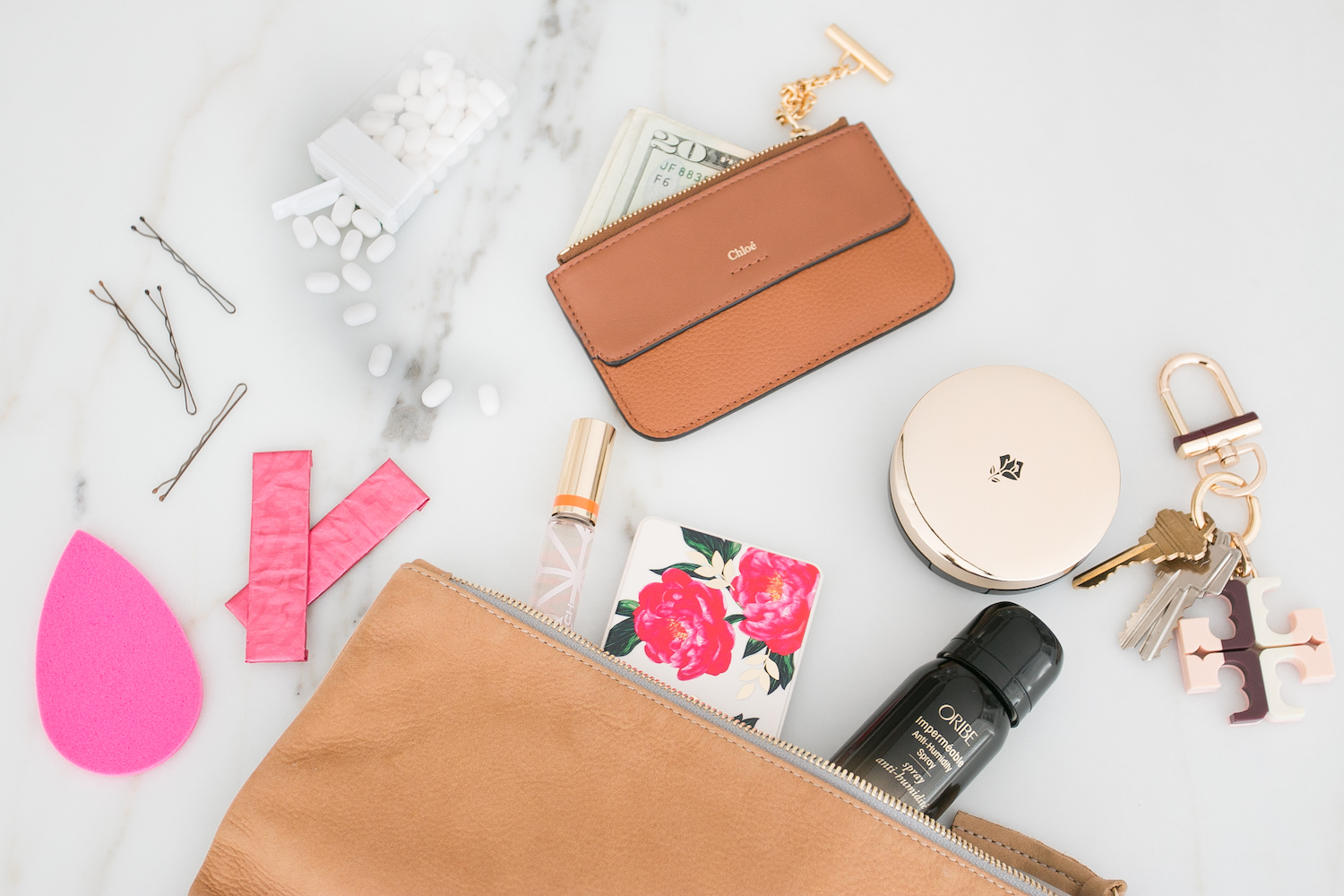 Lancome Chloe Clutch Essentials Make up Oribe Monika Hibbs