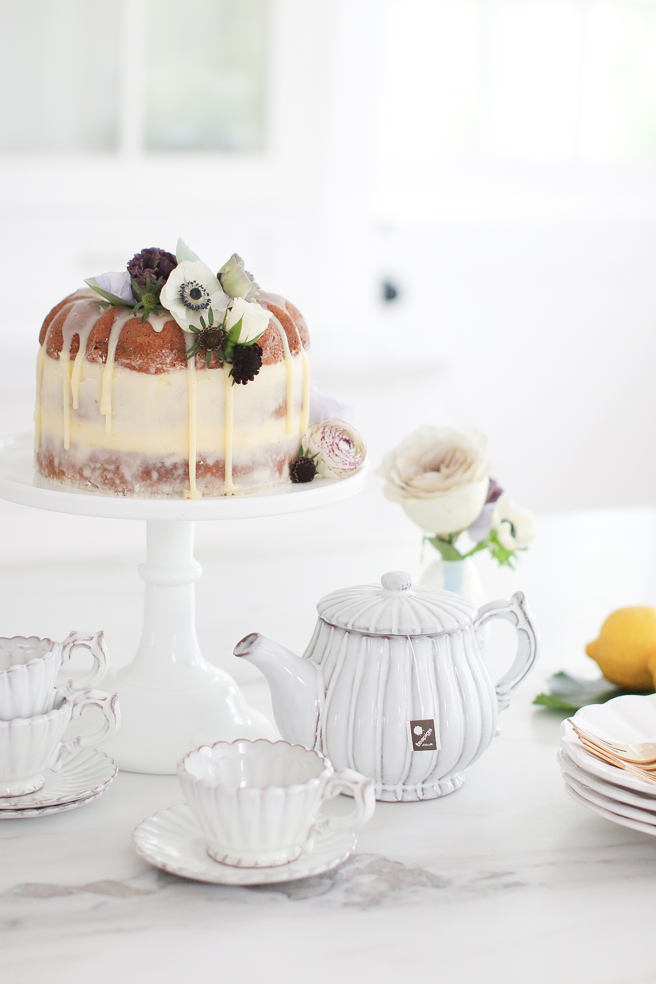 Earl Grey bundt Naked Cake Recipe Monika Hibbs