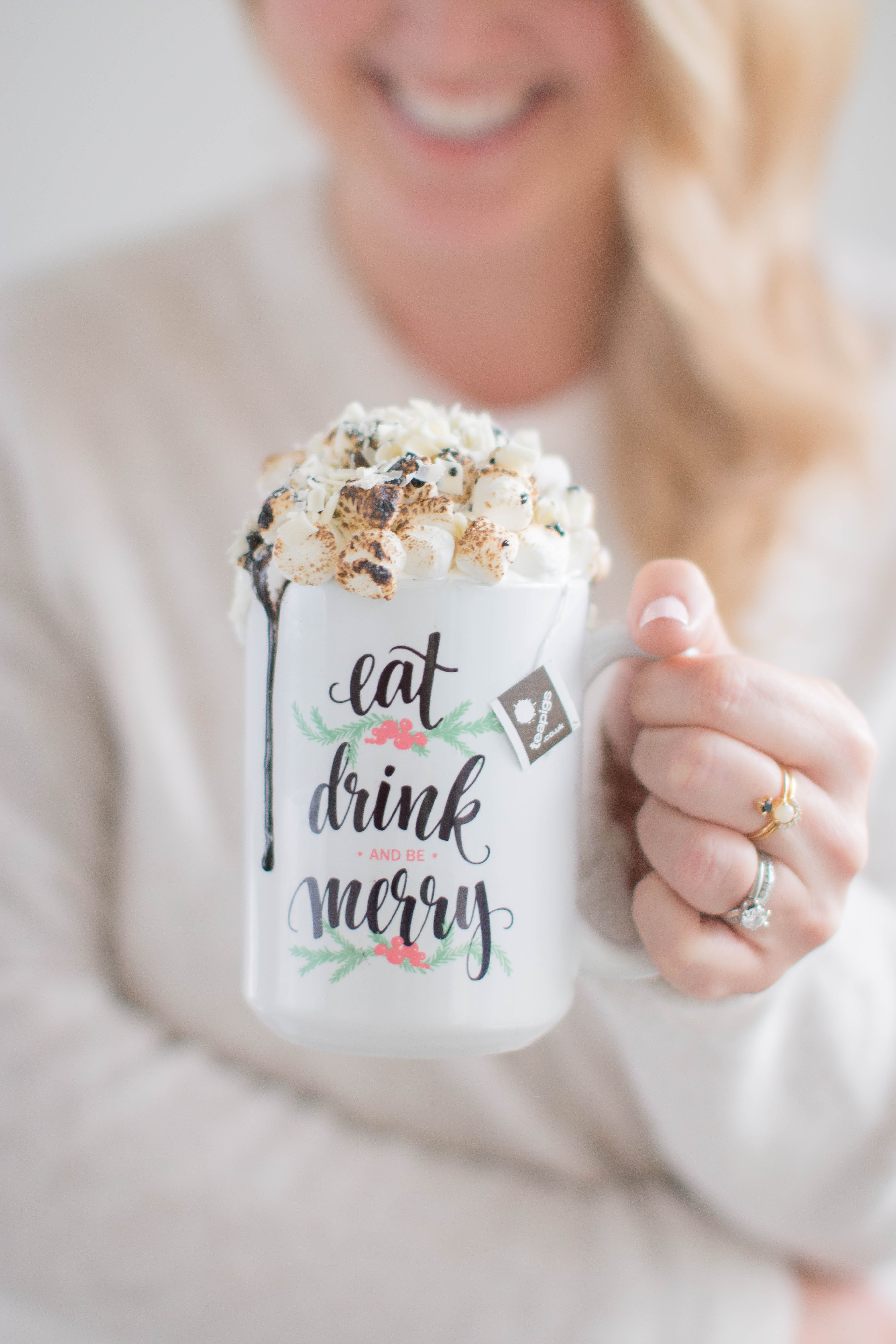 Mint White Hot Chocolate Christmas Monika Hibbs