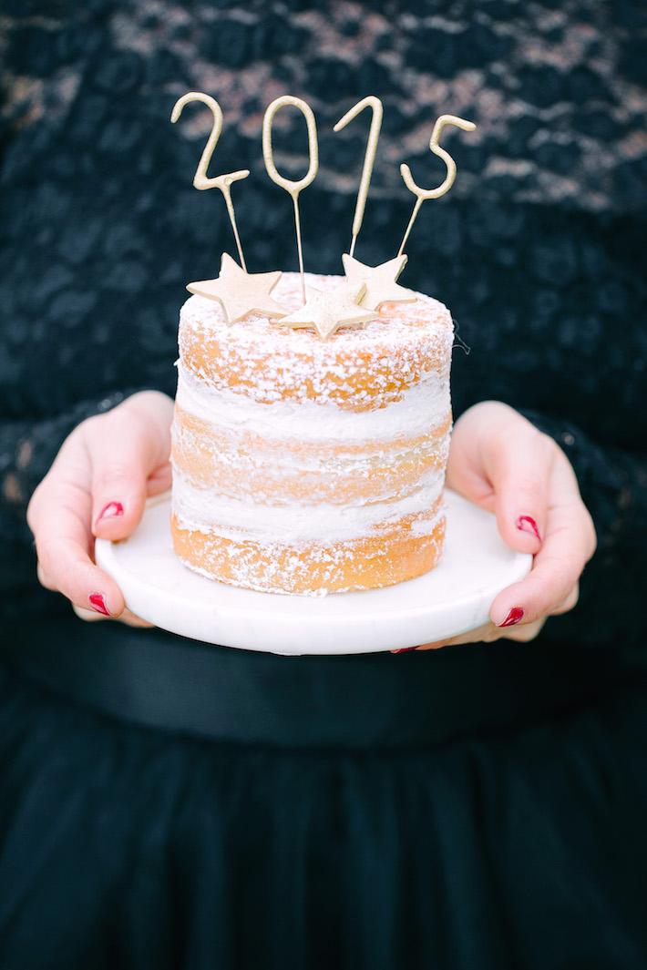 NYE Naked cake