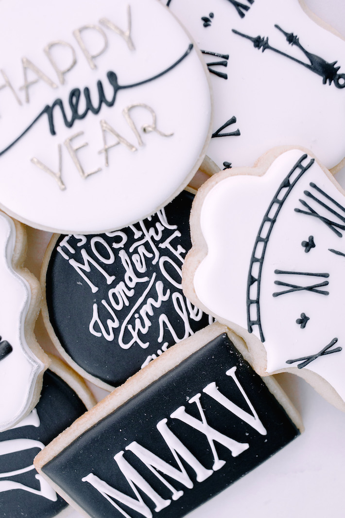 New Years eve cookies by the whisk