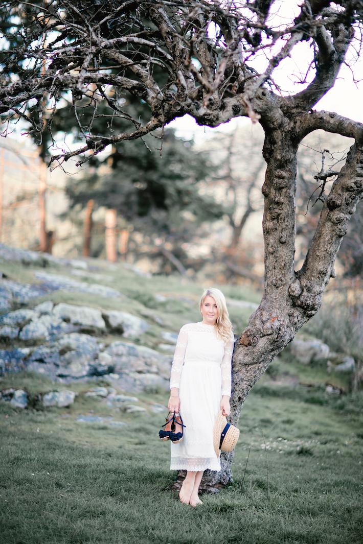 Summer White Lace dress Monika Hibbs