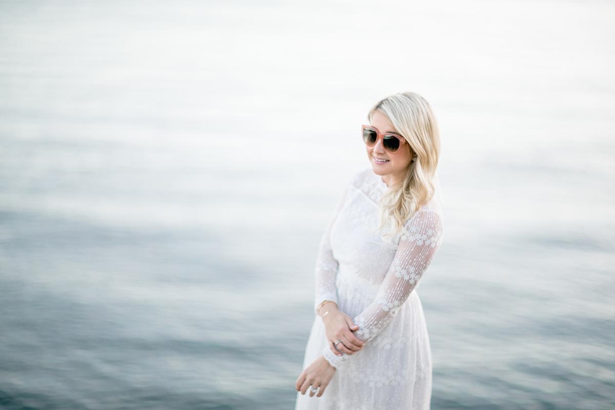 White Lace Summer Dress Monika Hibbs