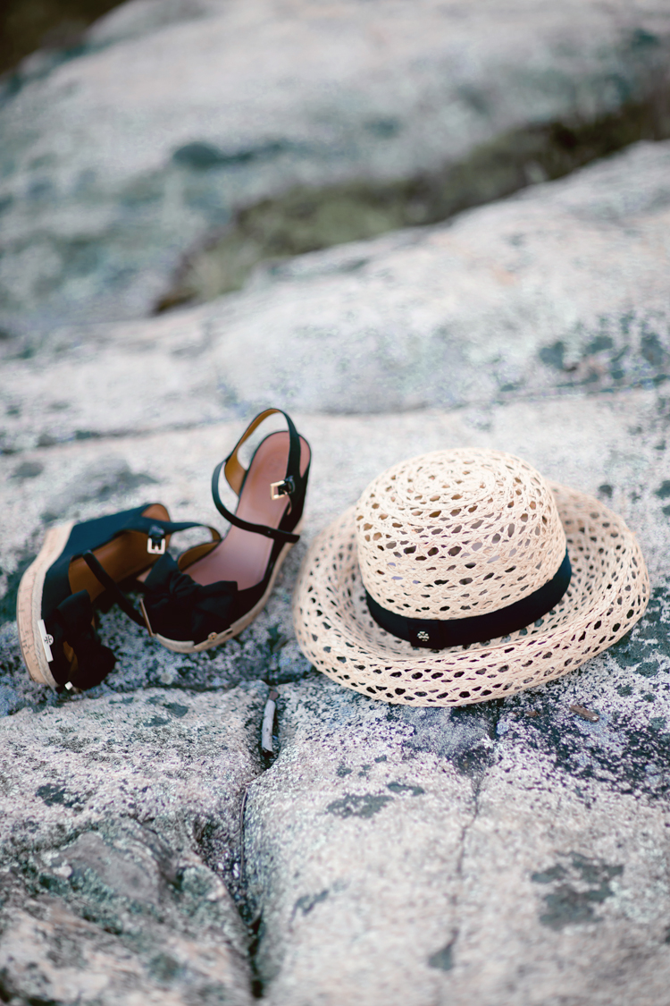 Tory Burch Wedges and Beach Hat