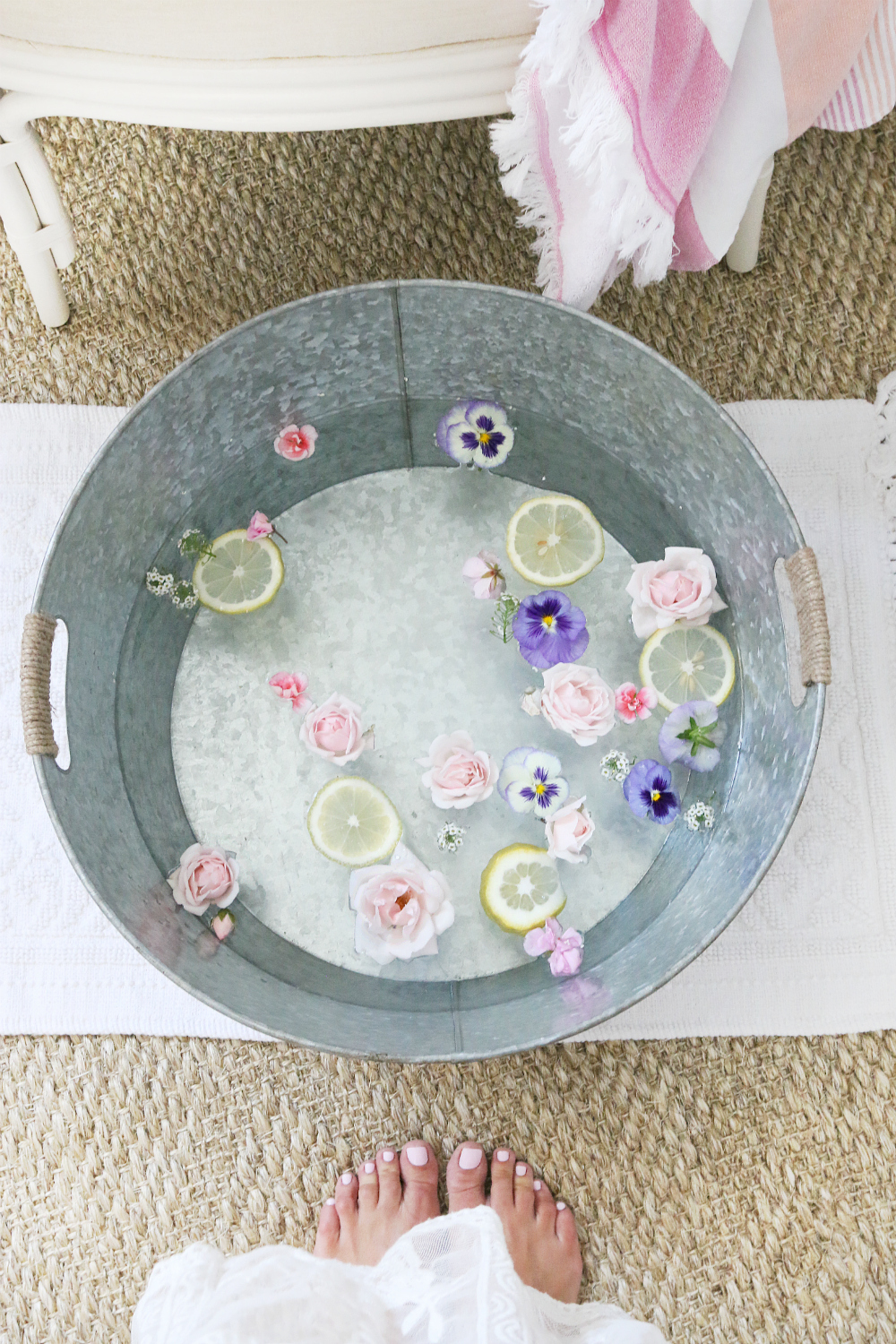 Flower Pedicure Bath