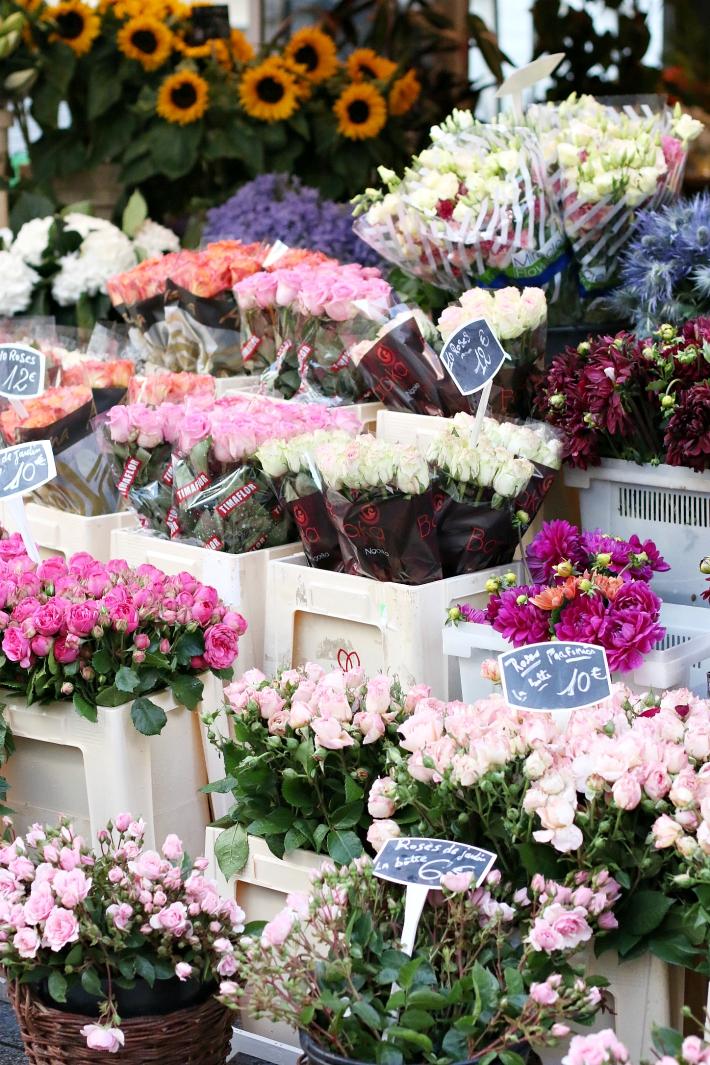 Flower Market Paris Rue Cler