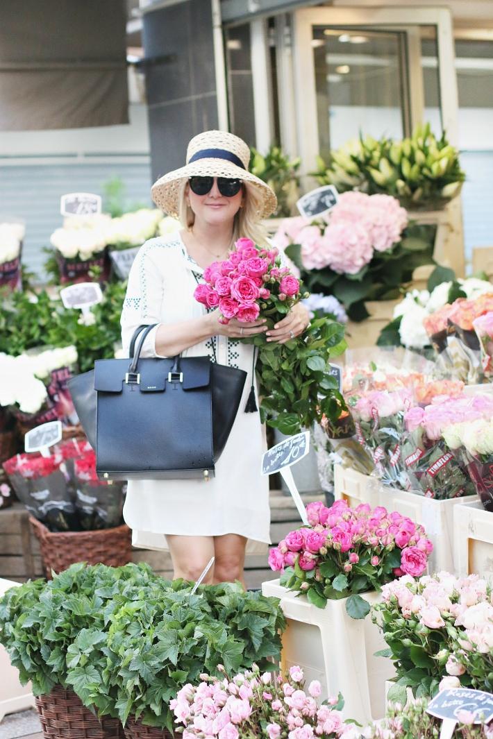 Paris Flower Market Rue Cler