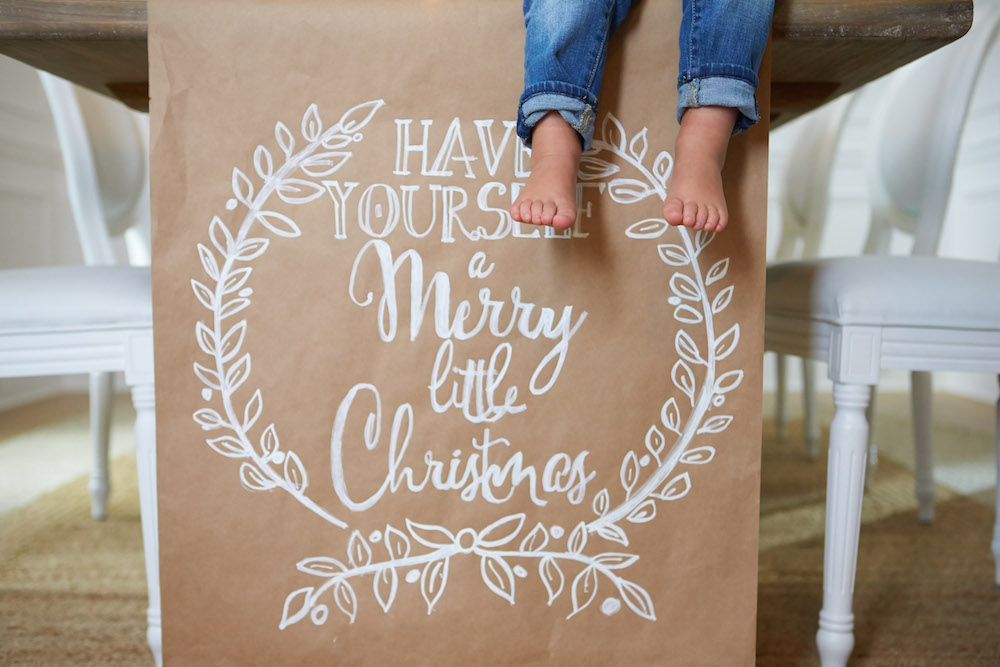 Monika Hibbs Christmas DIY Paper Runner