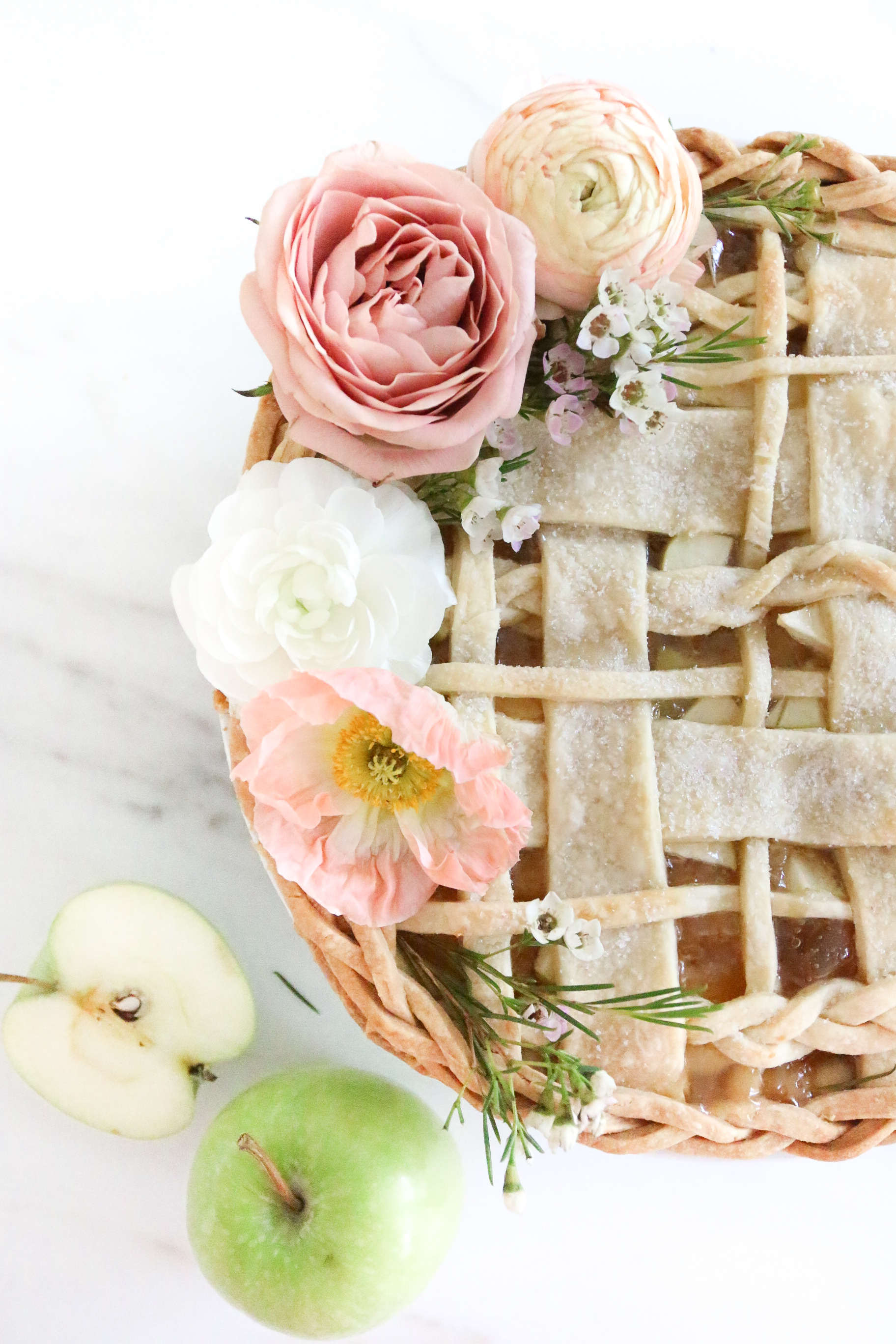 Floral Braided Apple Pie Monika Hibbs