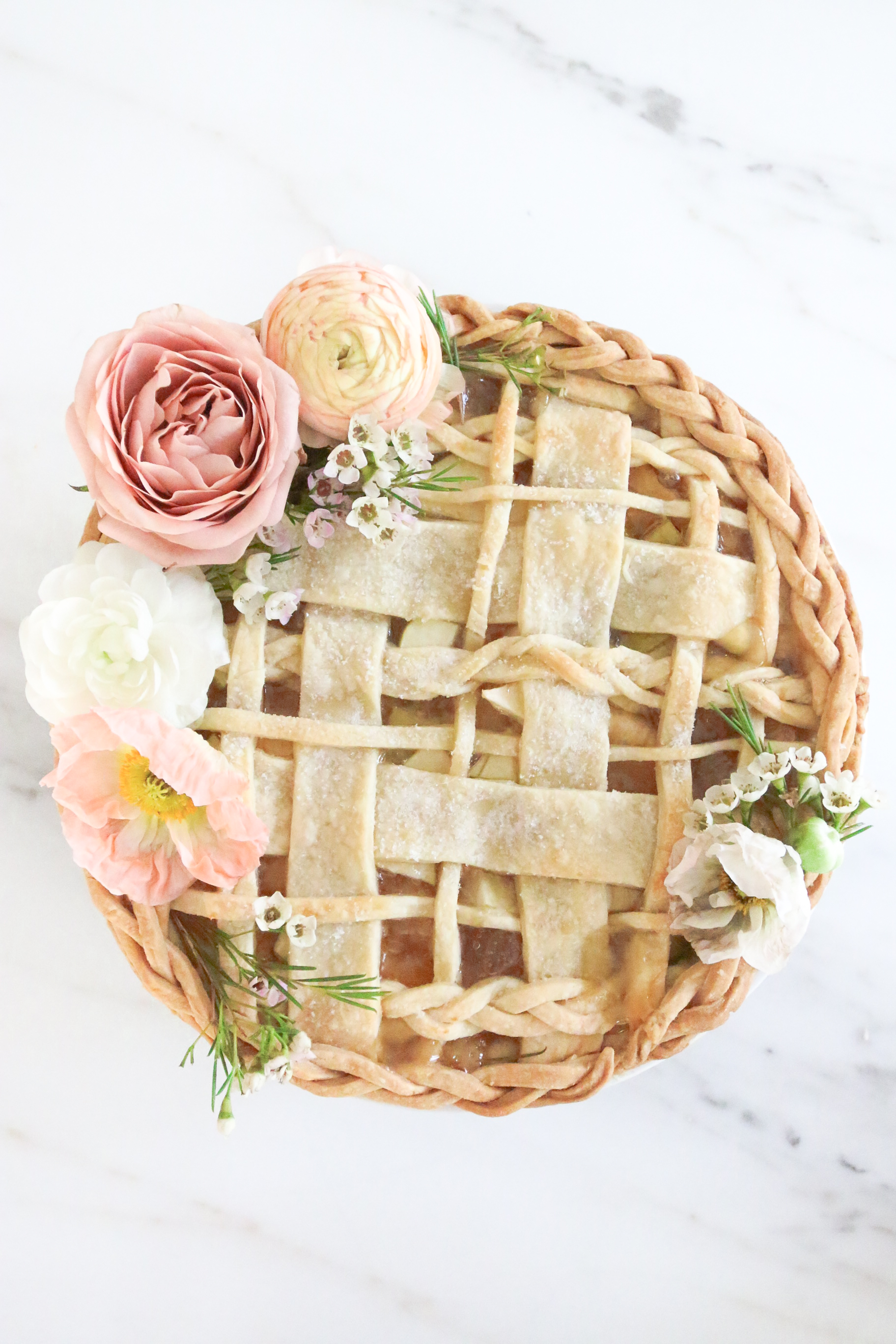 Prettiest apple braided floral apple pie Monika Hibbs
