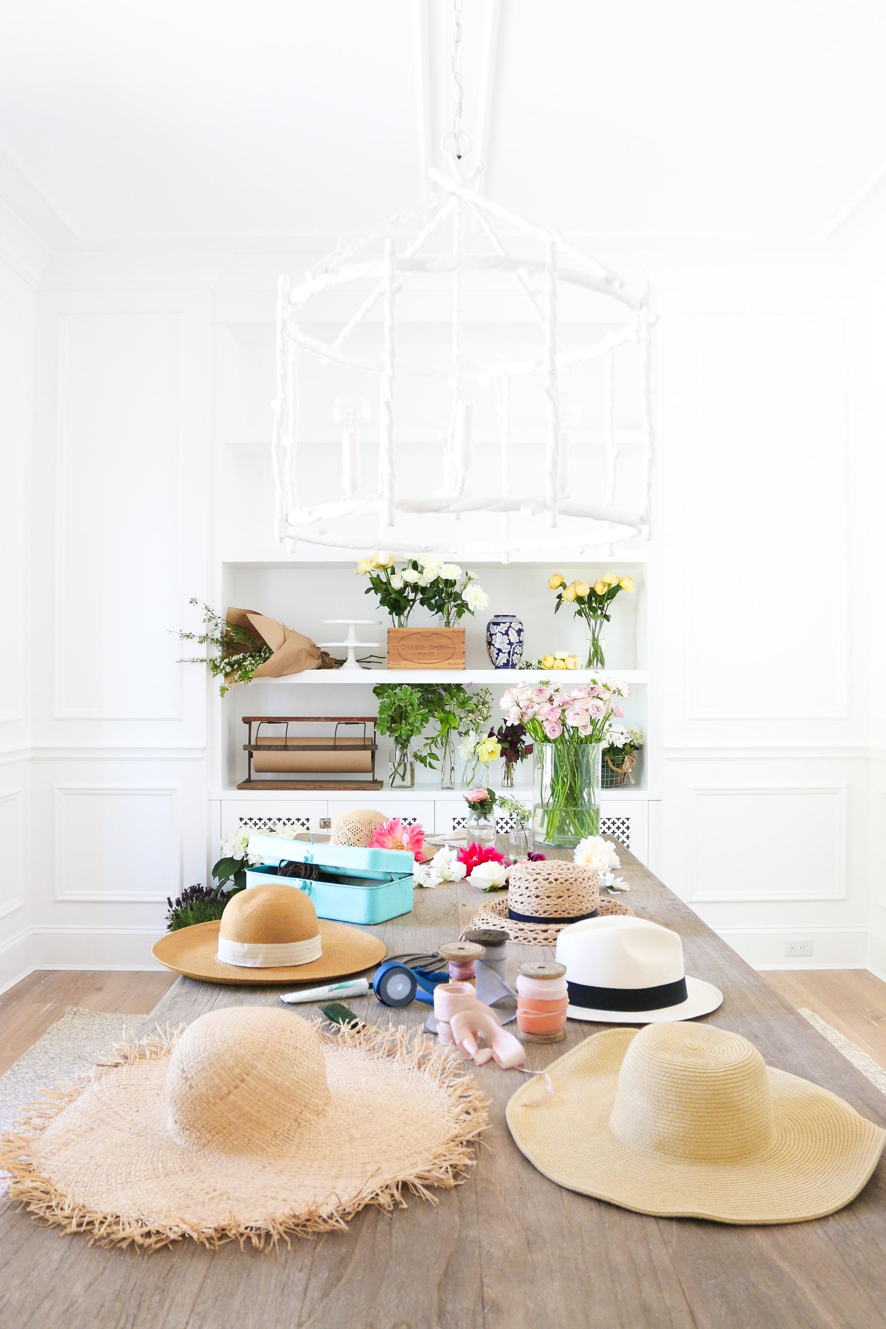DIY Floral Hat Monika Hibbs