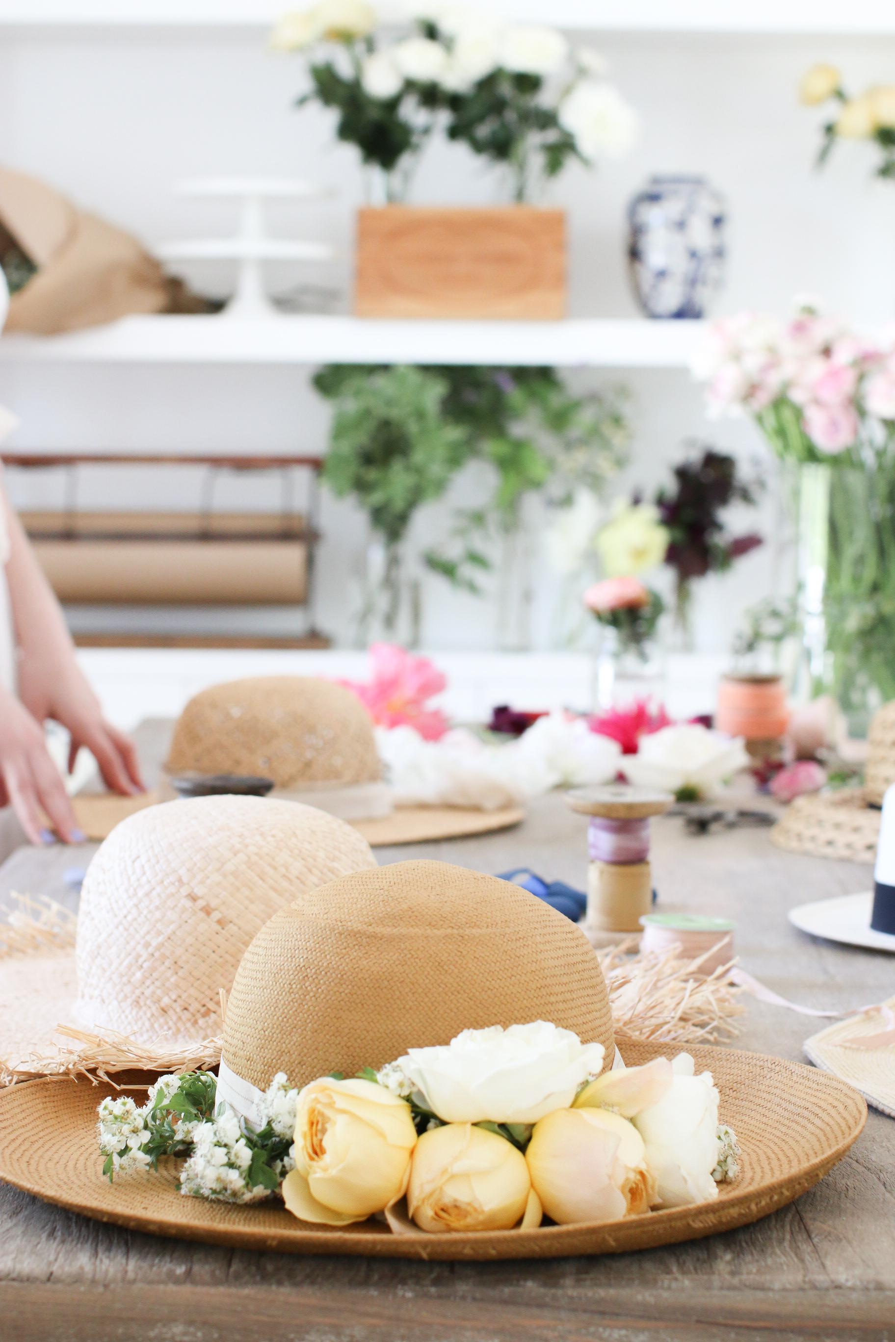 DIY Floral Hat Mother's day Monika Hibbs