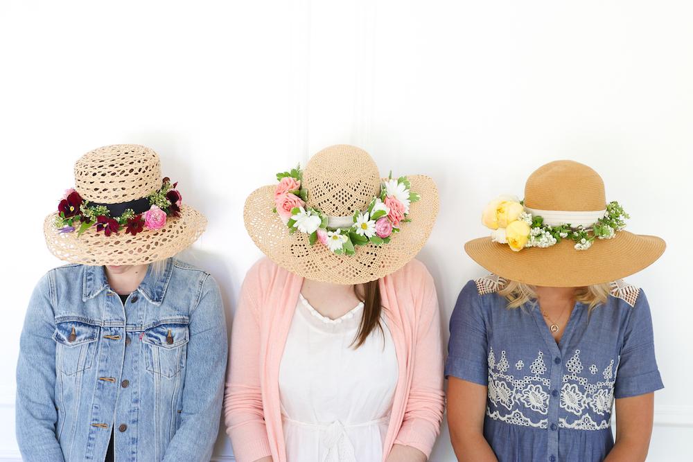DIY Floral Sun Hat DIY Monika Hibbs