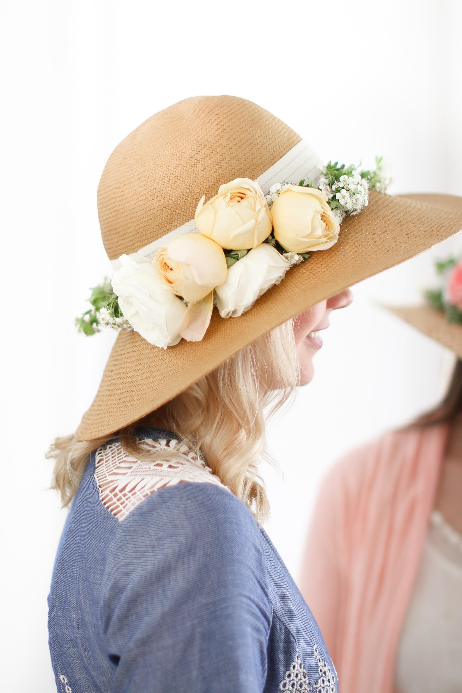 DIY Foral Hat Mother's Day DIY