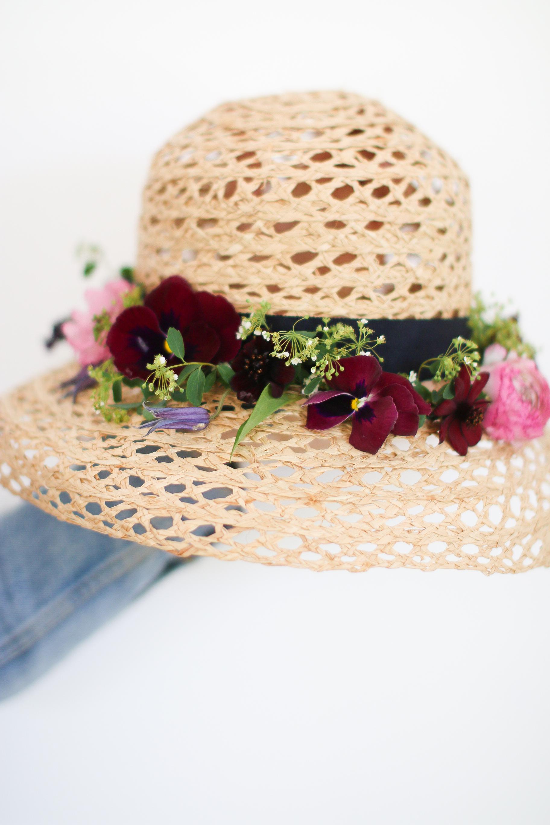 Mother's Day DIY Floral Hat Monika Hibbs