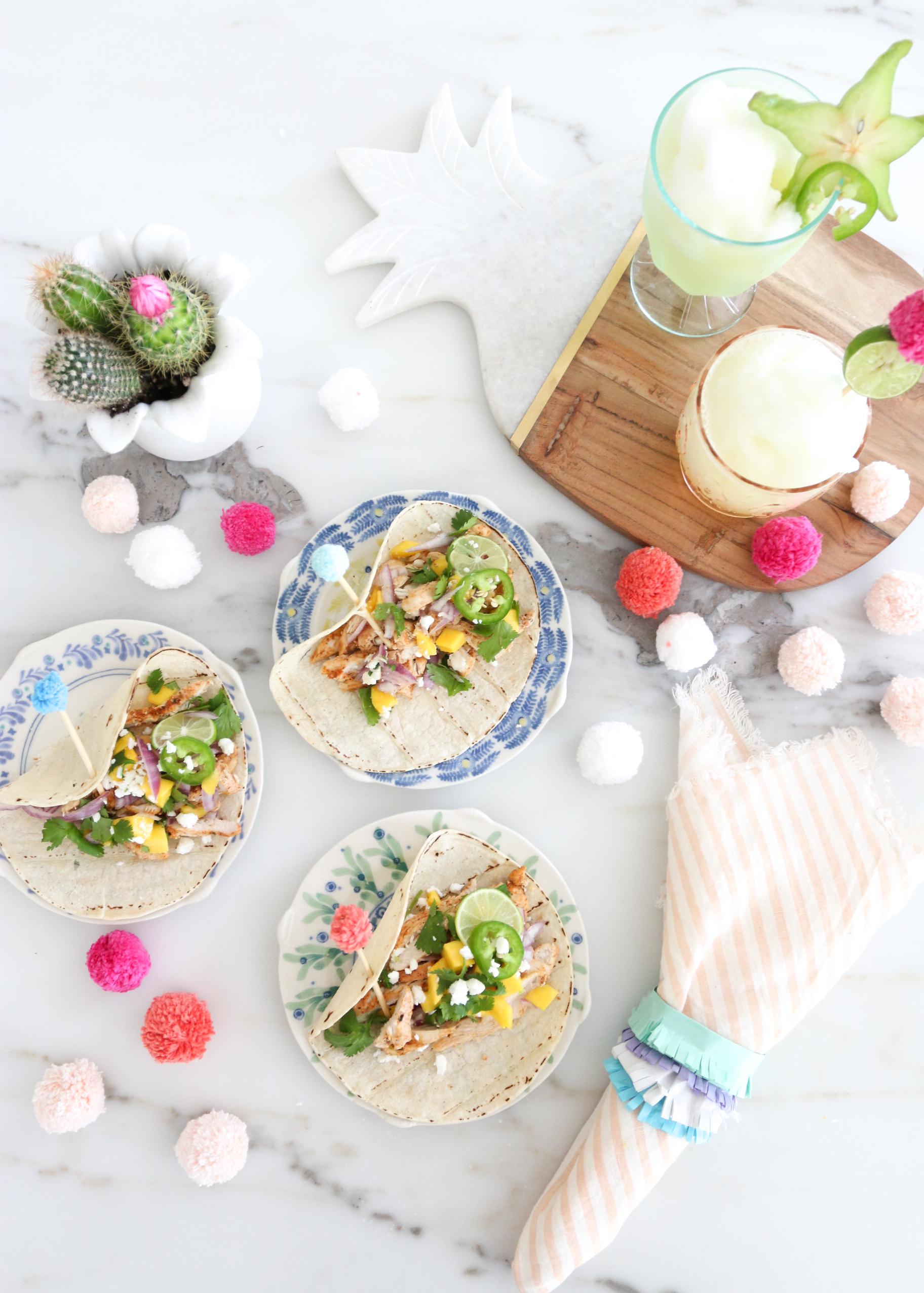 Tacos Pom poms Cinco De Mayo Monika Hibbs