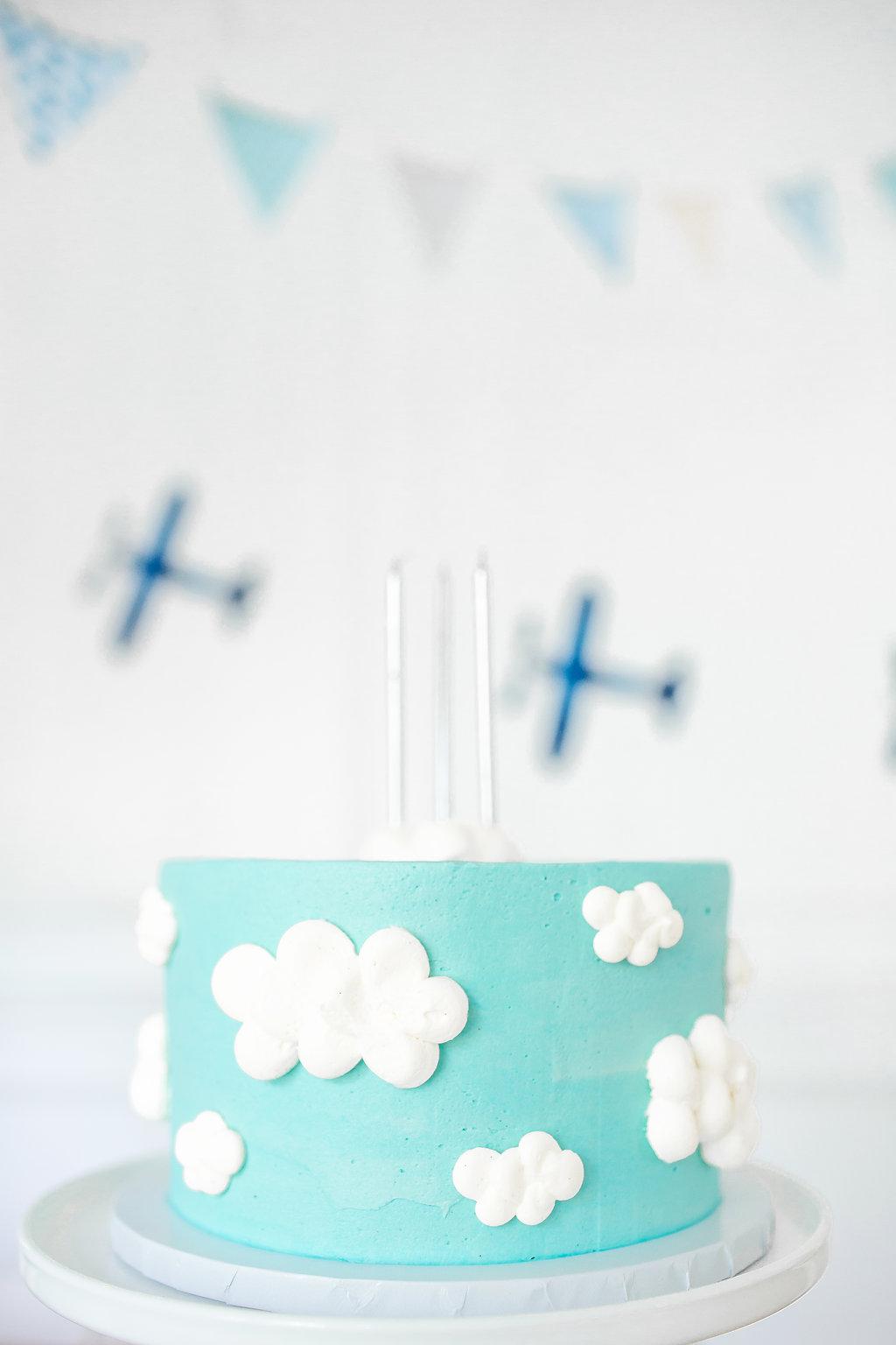 Boy Airplane Birthday Party Birthday Cake Monika Hibbs