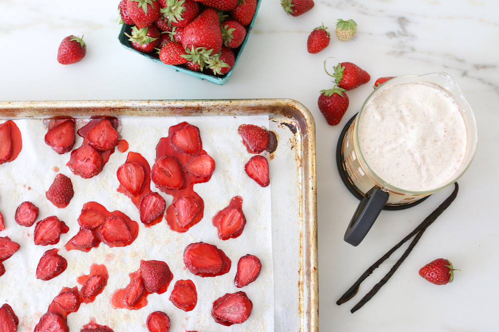 Roasted Strawberries Almond Milk Vanilla DIY Recipe Monika Hibbs