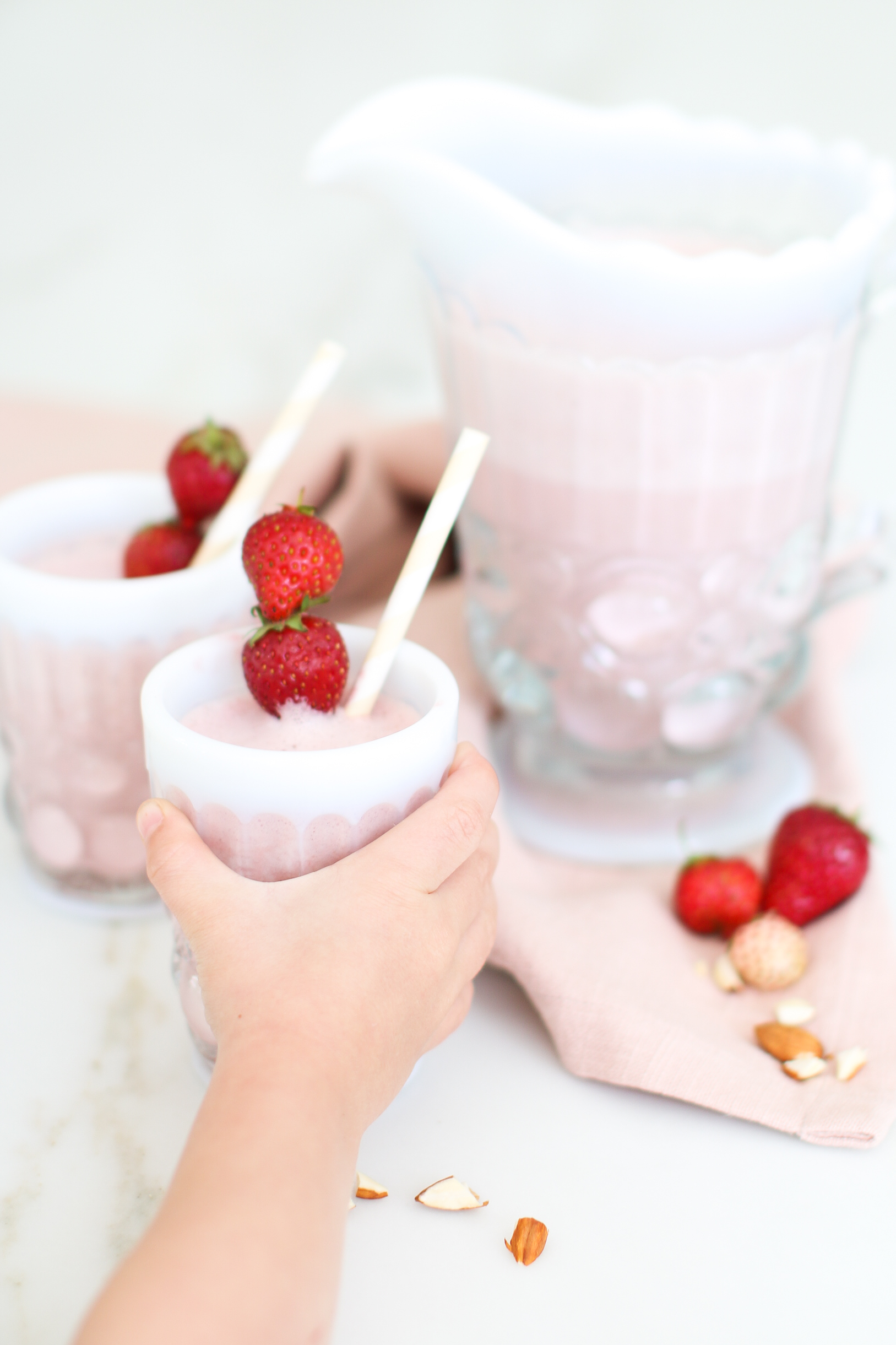 Roasted Strawberry Almond Milk Recipe DIY Monika Hibbs