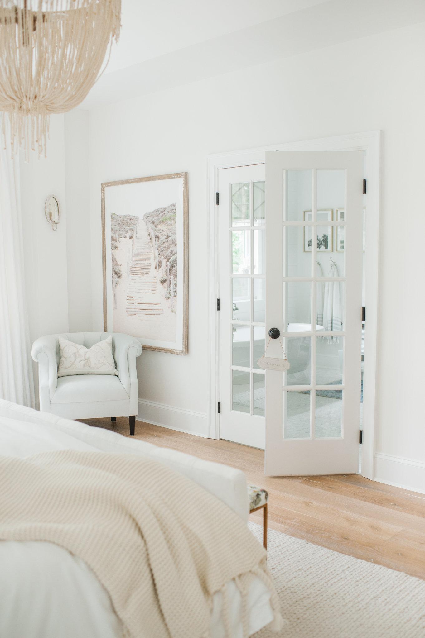 Master Bedroom White MH Home Monika Hibbs