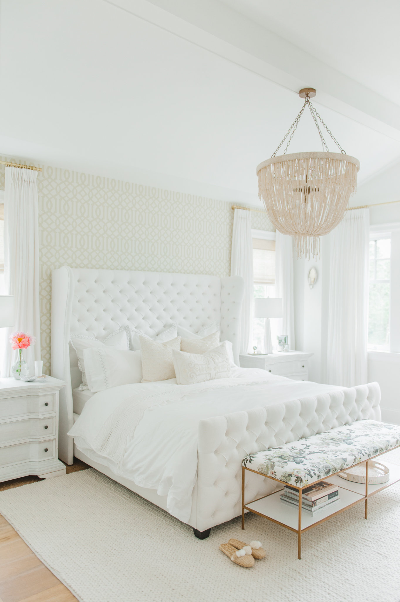 Master Bedroom Cross Design White MH Home Monika Hibbs