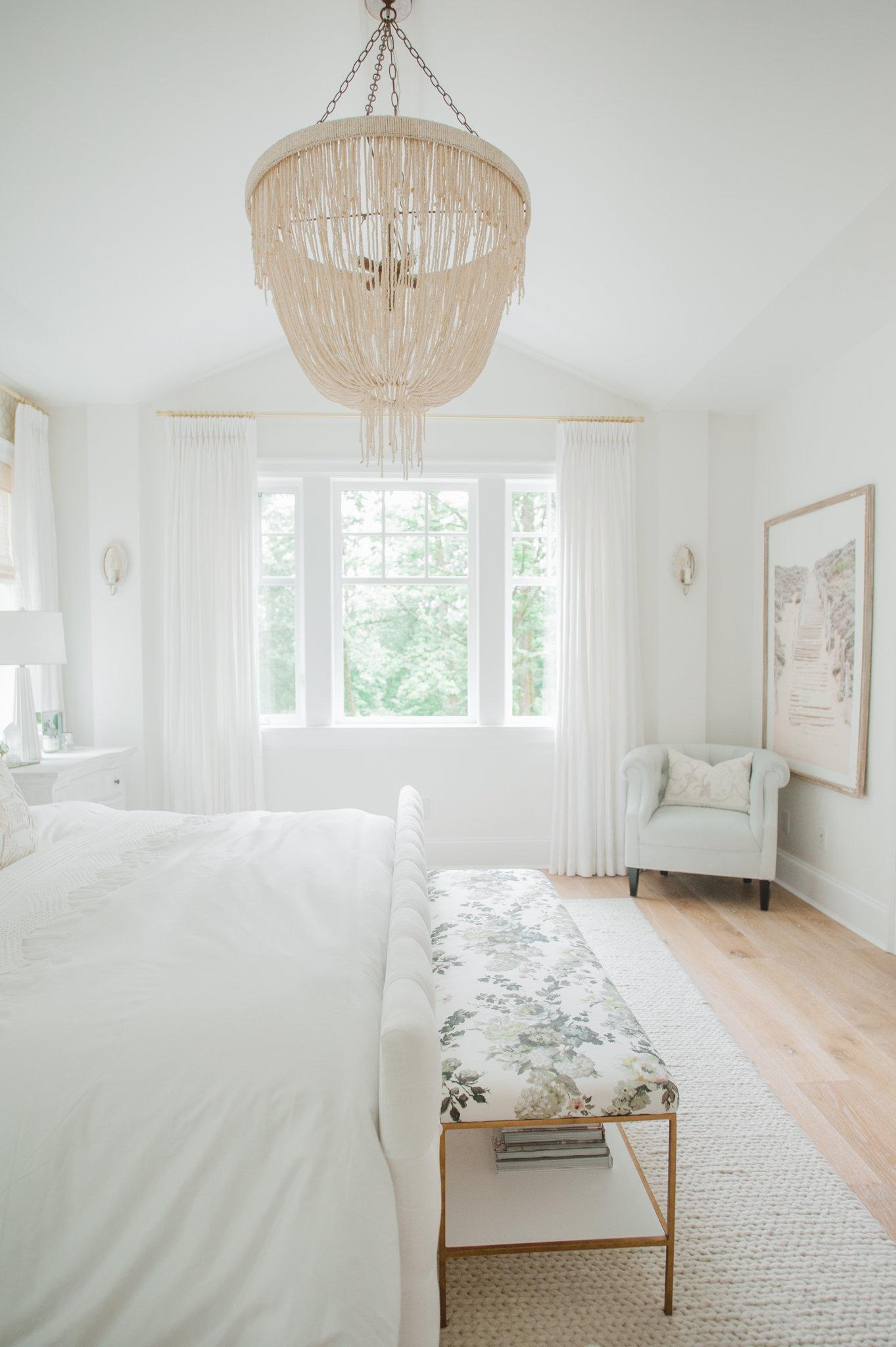 Master Bedroom Cross Design White MH Home Monika Hibbs