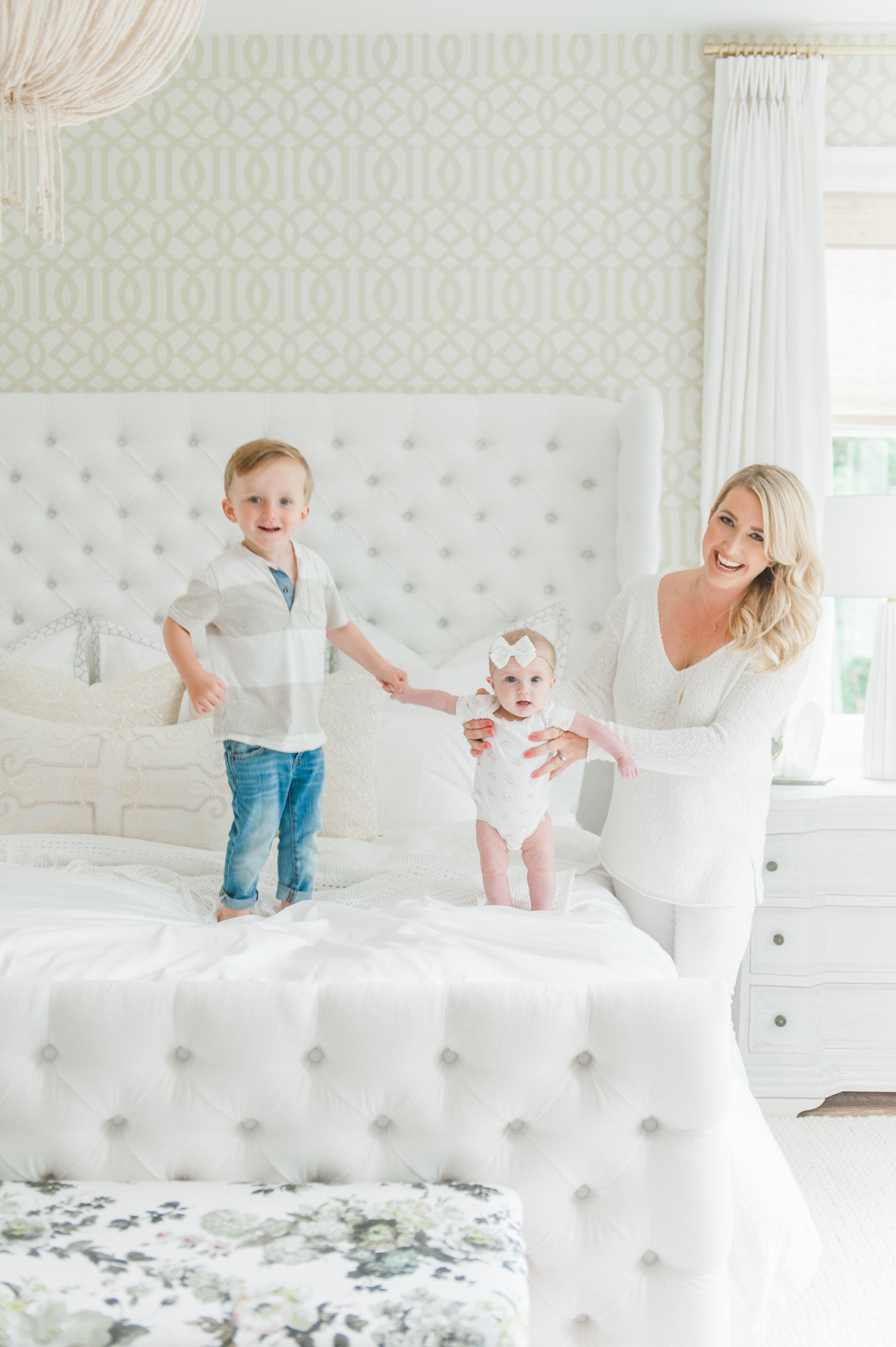 Master Bedroom Family Love Cross Design MH Home Monika Hibbs